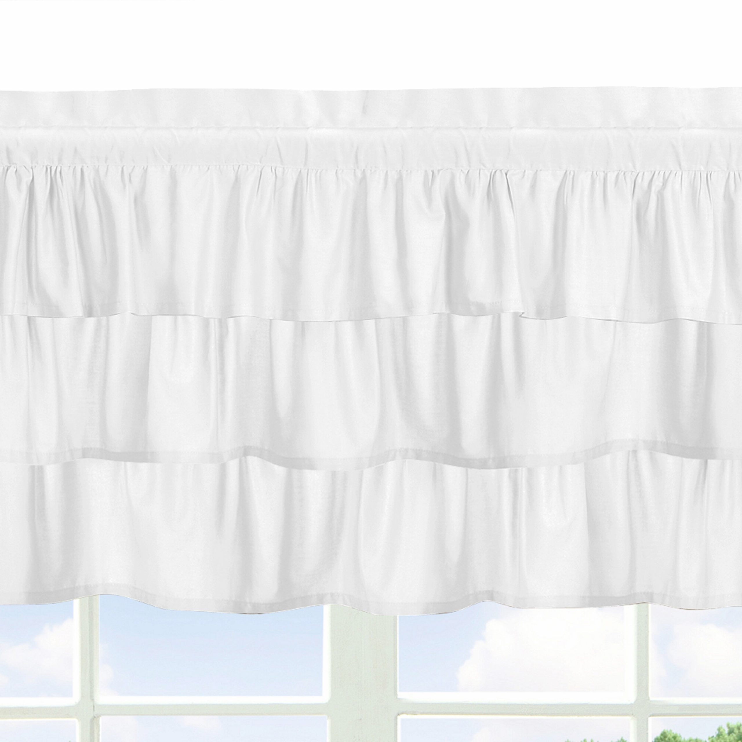 "Sweet Jojo Designs Harper 54"" Window Valance & Reviews Throughout Most Popular Hudson Pintuck Window Curtain Valances (View 13 of 20)"