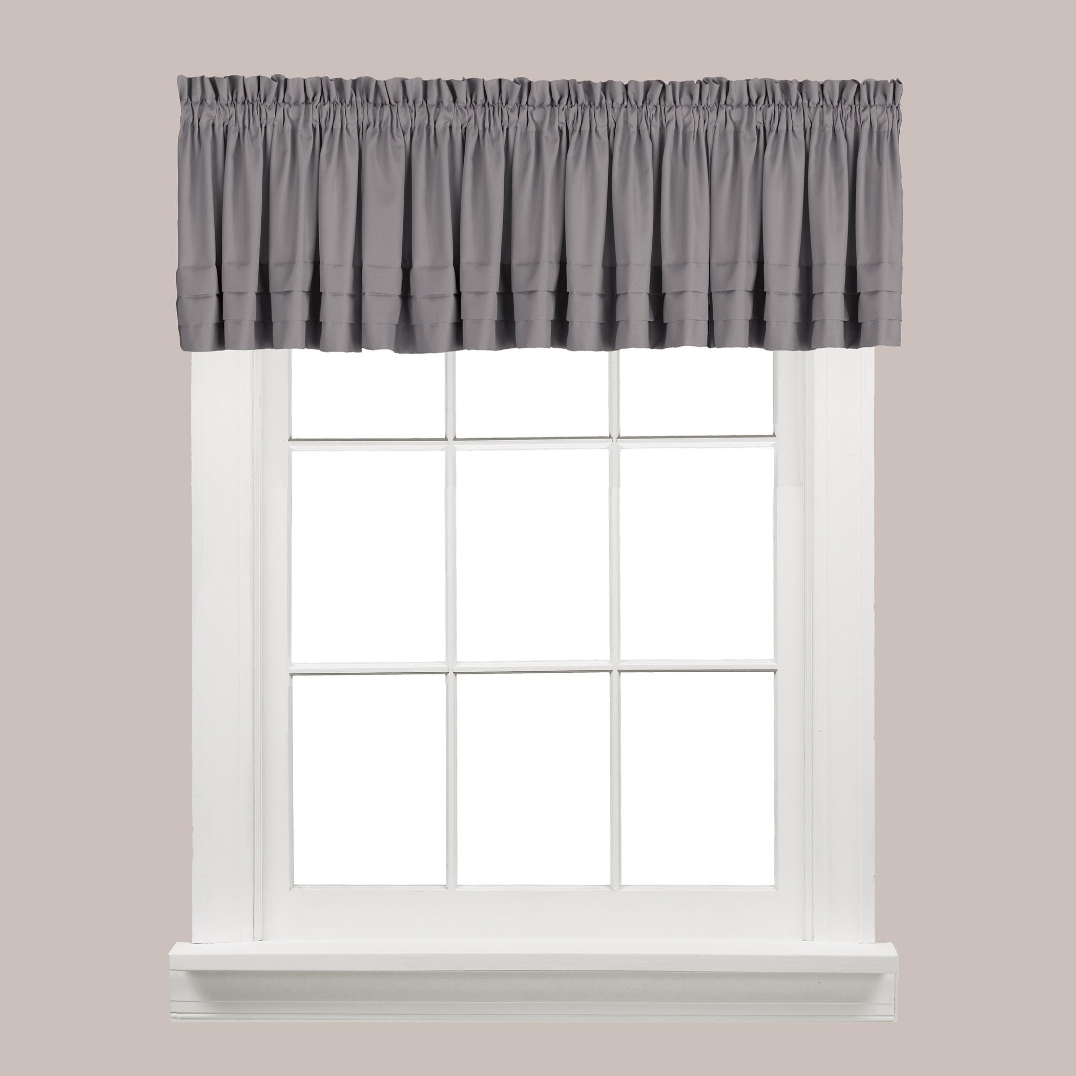 The Gray Barn Flinders Forge Valance In Dove Grey Within Most Up To Date Dove Gray Curtain Tier Pairs (View 14 of 20)