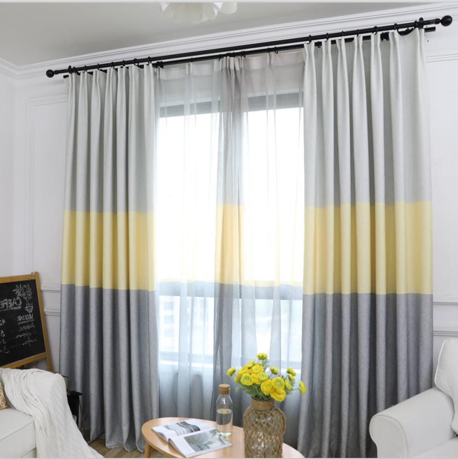 Traditional Tailored Window Curtains With Embroidered Yellow Sunflowers Within Well Known Modern Striped Window Tulle Curtains For Living Room Yellow Voile Sheer Curtains For Bedroom Kids Cortina Blind Custom Su406 * (View 18 of 20)