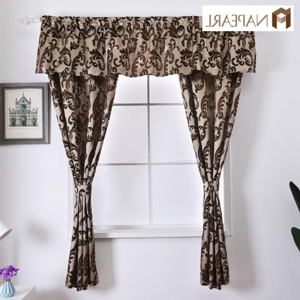 Tree Branch Valance And Tiers Sets Within Fashionable 2019 Napearl Rustic Decorative Kitchen Curtain Hanging Pelmet Manufactured Sewing Drapes Window Valance And Tiers Classic Short Drops From Adeir, (View 15 of 20)