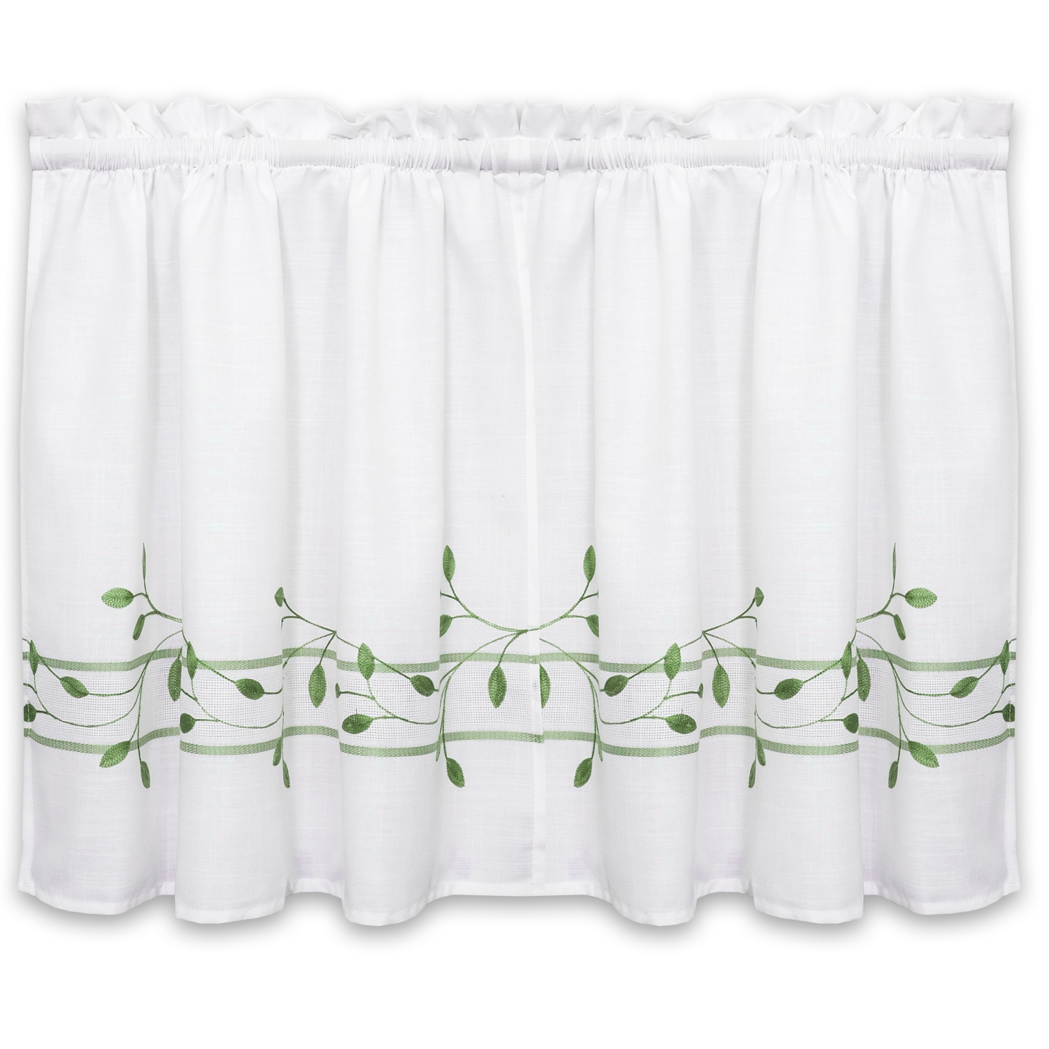 Trellis Scrolling Leaf Pattern Kitchen Window Curtain Tiers Or Valance Green – Walmart Within Well Known Trellis Pattern Window Valances (View 20 of 20)