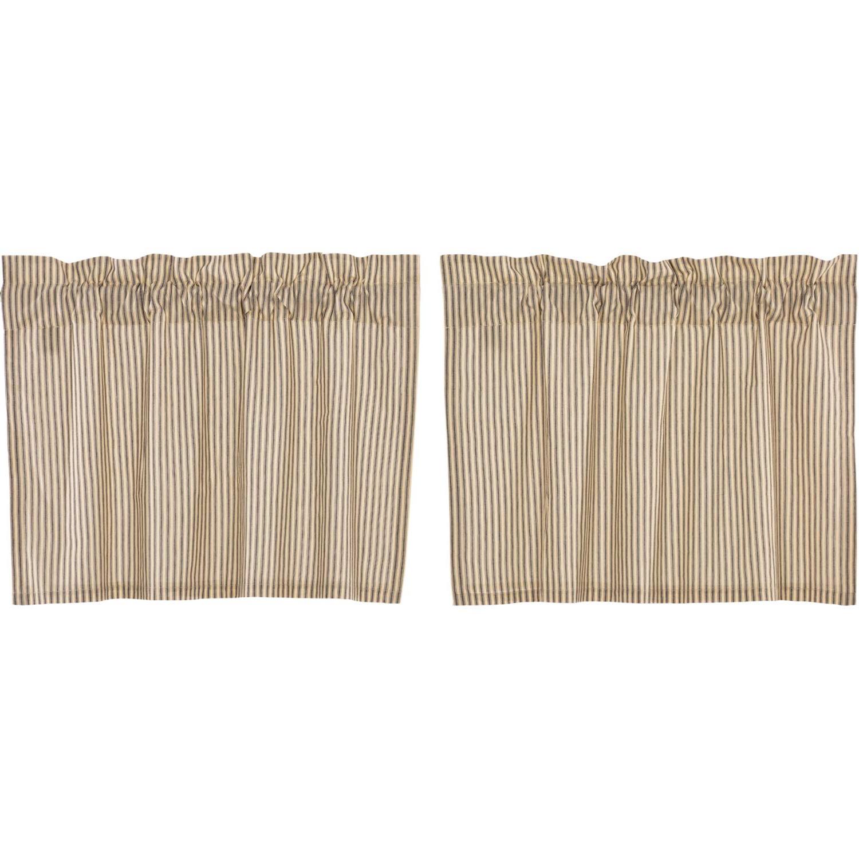 Trendy Amazon: Vhc Brands Farmhouse Kitchen Curtains Sawyer Regarding Farmhouse Stripe Kitchen Tier Pairs (View 17 of 20)