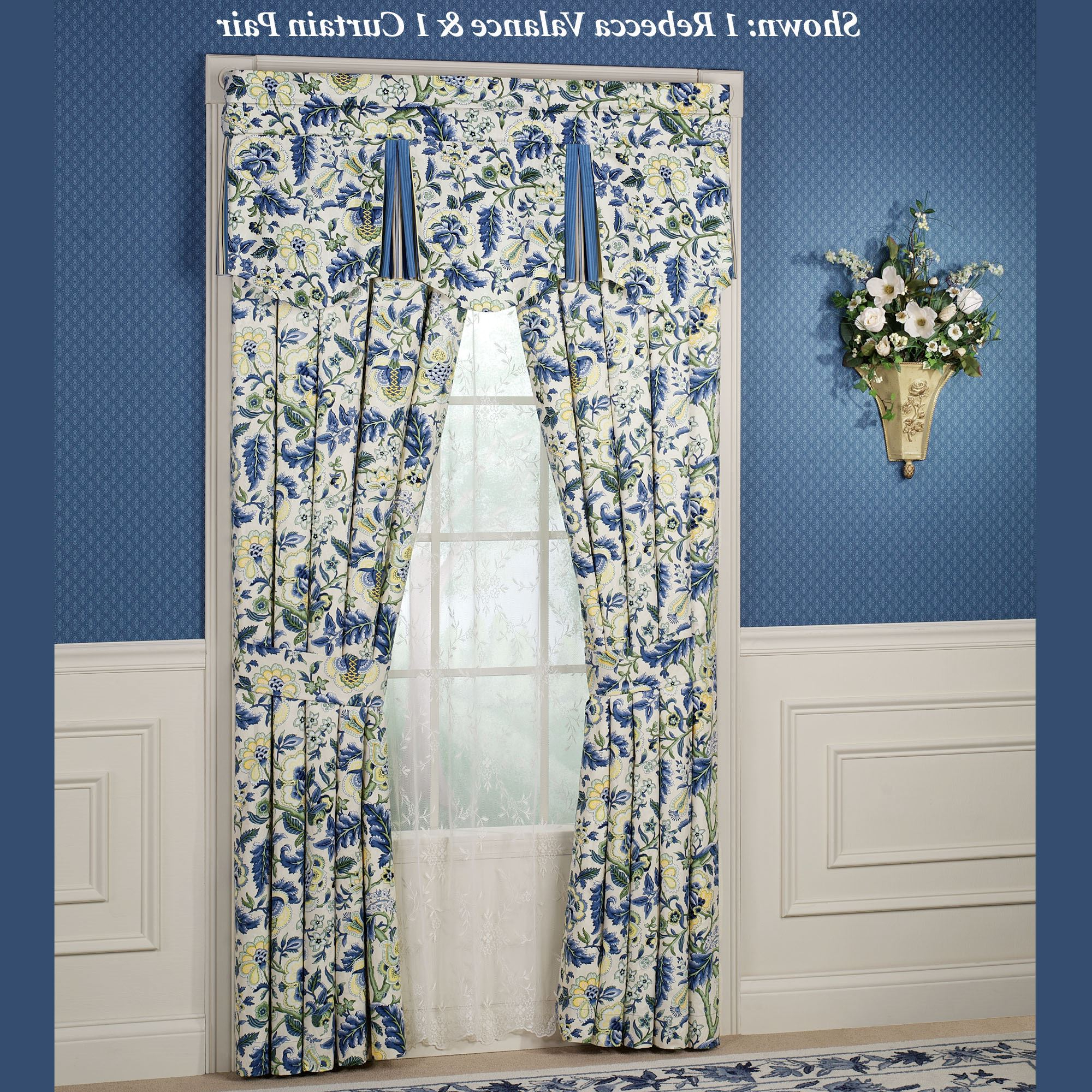 Trendy Imperial Dress Window Treatment Pertaining To Imperial Flower Jacquard Tier And Valance Kitchen Curtain Sets (View 20 of 20)