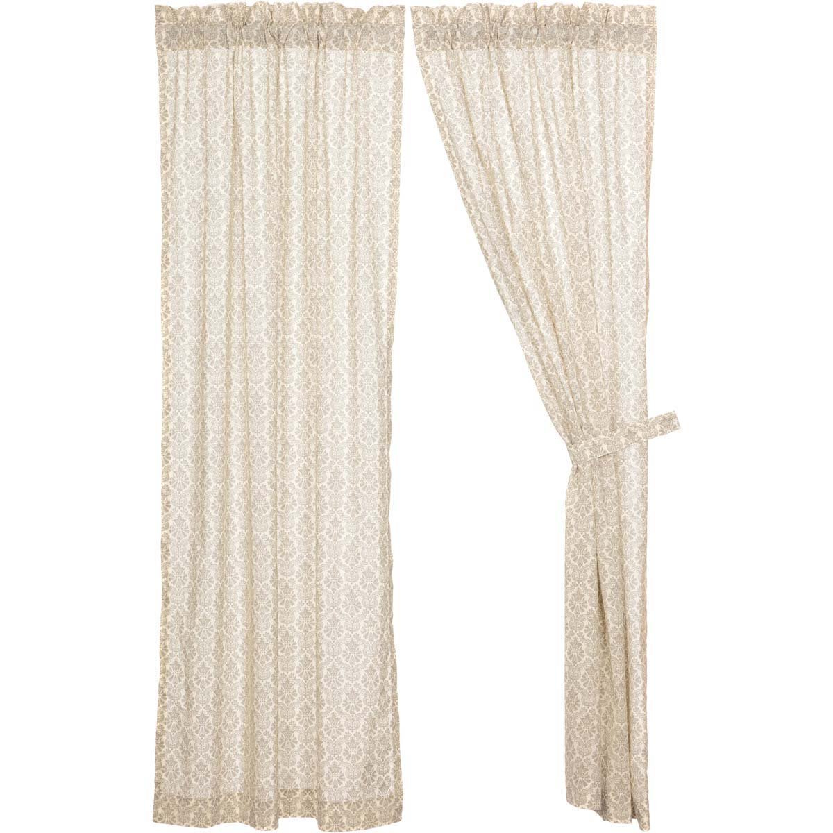 Trendy Simple Life Flax Tier Pairs For Amazon: Vhc Brands Boho & Eclectic Farmhouse Window Ava (View 18 of 20)