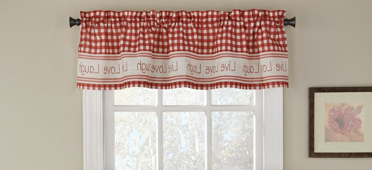 """Turley 50"""" Window Valance In Latest Live, Love, Laugh Window Curtain Tier Pair And Valance Sets (View 18 of 20)"""