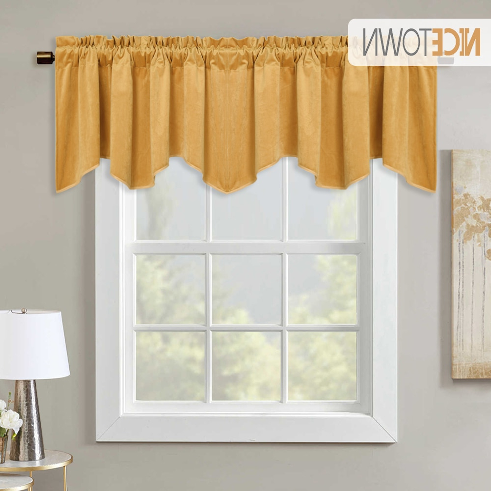 [%us $13.3 30% Off|1pc Luxury Velvet Valance Scalloped Half Window Curtain Tier Wave Drape For Home Decoration Bay Window Kitchen Room Decor In Curtains Pertaining To Recent Luxurious Kitchen Curtains Tiers, Shade Or Valances|luxurious Kitchen Curtains Tiers, Shade Or Valances With Current Us $13.3 30% Off|1pc Luxury Velvet Valance Scalloped Half Window Curtain Tier Wave Drape For Home Decoration Bay Window Kitchen Room Decor In Curtains|best And Newest Luxurious Kitchen Curtains Tiers, Shade Or Valances In Us $13.3 30% Off|1pc Luxury Velvet Valance Scalloped Half Window Curtain Tier Wave Drape For Home Decoration Bay Window Kitchen Room Decor In Curtains|most Popular Us $ (View 4 of 20)