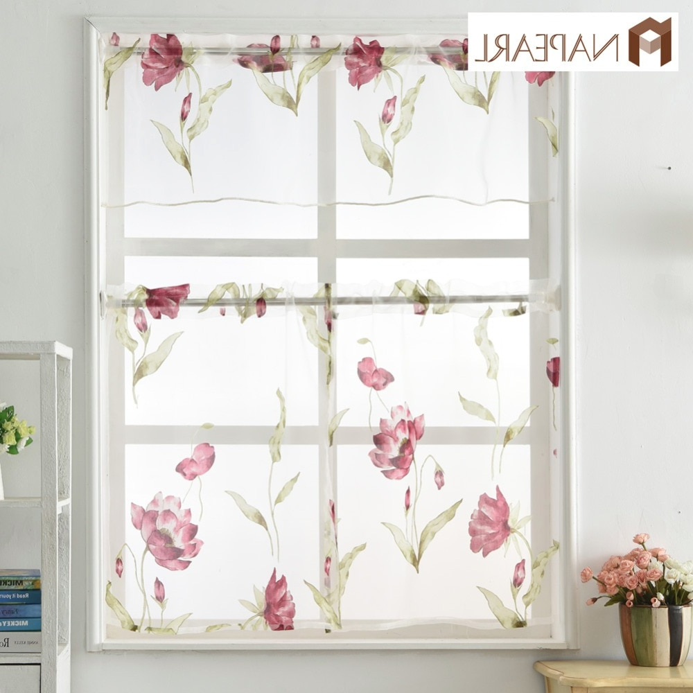 [%us $5.18 52% Off|napearl Window Treatment Set Cafe Curtain Panel Ready Made Rod Pocket Small Window Organza Sheer Fabrics Tulle Valance And Tiers In With Well Known Floral Lace Rod Pocket Kitchen Curtain Valance And Tiers Sets|floral Lace Rod Pocket Kitchen Curtain Valance And Tiers Sets Regarding Most Recently Released Us $5.18 52% Off|napearl Window Treatment Set Cafe Curtain Panel Ready Made Rod Pocket Small Window Organza Sheer Fabrics Tulle Valance And Tiers In|well Known Floral Lace Rod Pocket Kitchen Curtain Valance And Tiers Sets Inside Us $5.18 52% Off|napearl Window Treatment Set Cafe Curtain Panel Ready Made Rod Pocket Small Window Organza Sheer Fabrics Tulle Valance And Tiers In|widely Used Us $ (View 19 of 20)