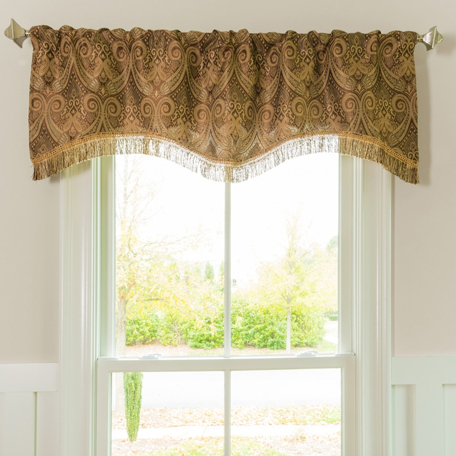 Valances At Lowes With Well Known Class Blue Cotton Blend Macrame Trimmed Decorative Window Curtains (View 14 of 17)
