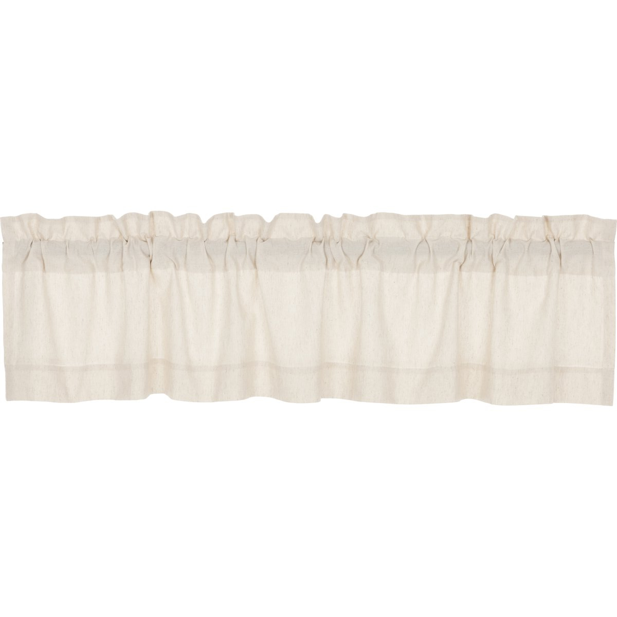 Vhc Brands Farmhouse French Country Curtains Simple Life Flax Solid  Valance, 16 L X 72 W, Natural Pertaining To Well Known Simple Life Flax Tier Pairs (View 19 of 20)