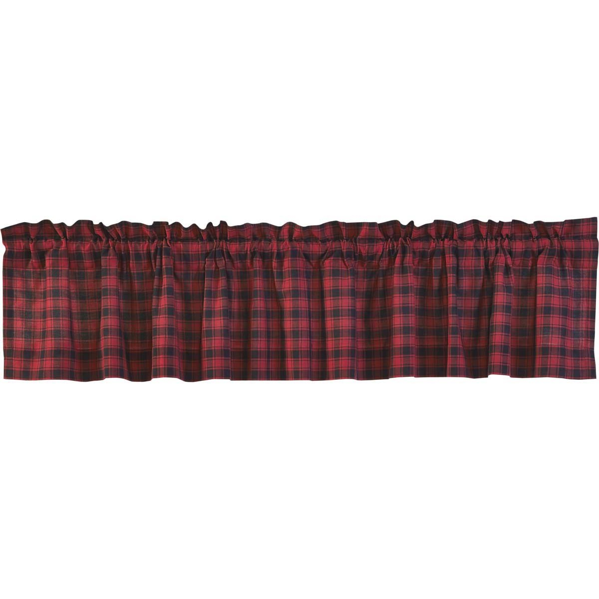 Vhc Brands Rustic & Lodge Kitchen Window Curtains – Cumberland Red Valance, 16x60, Chili Pepper Regarding Preferred Red Rustic Kitchen Curtains (View 15 of 20)