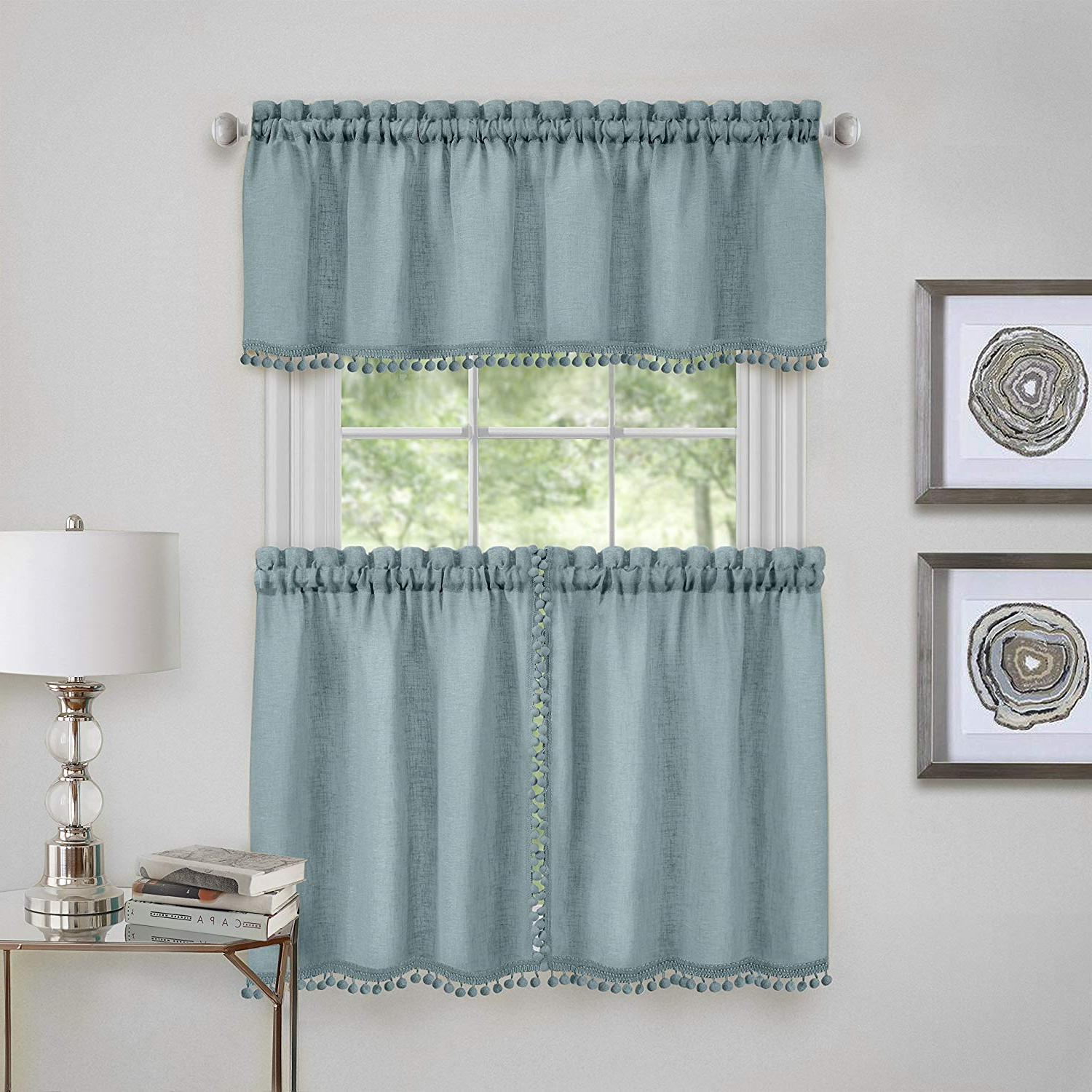Featured Photo of Wallace Window Kitchen Curtain Tiers