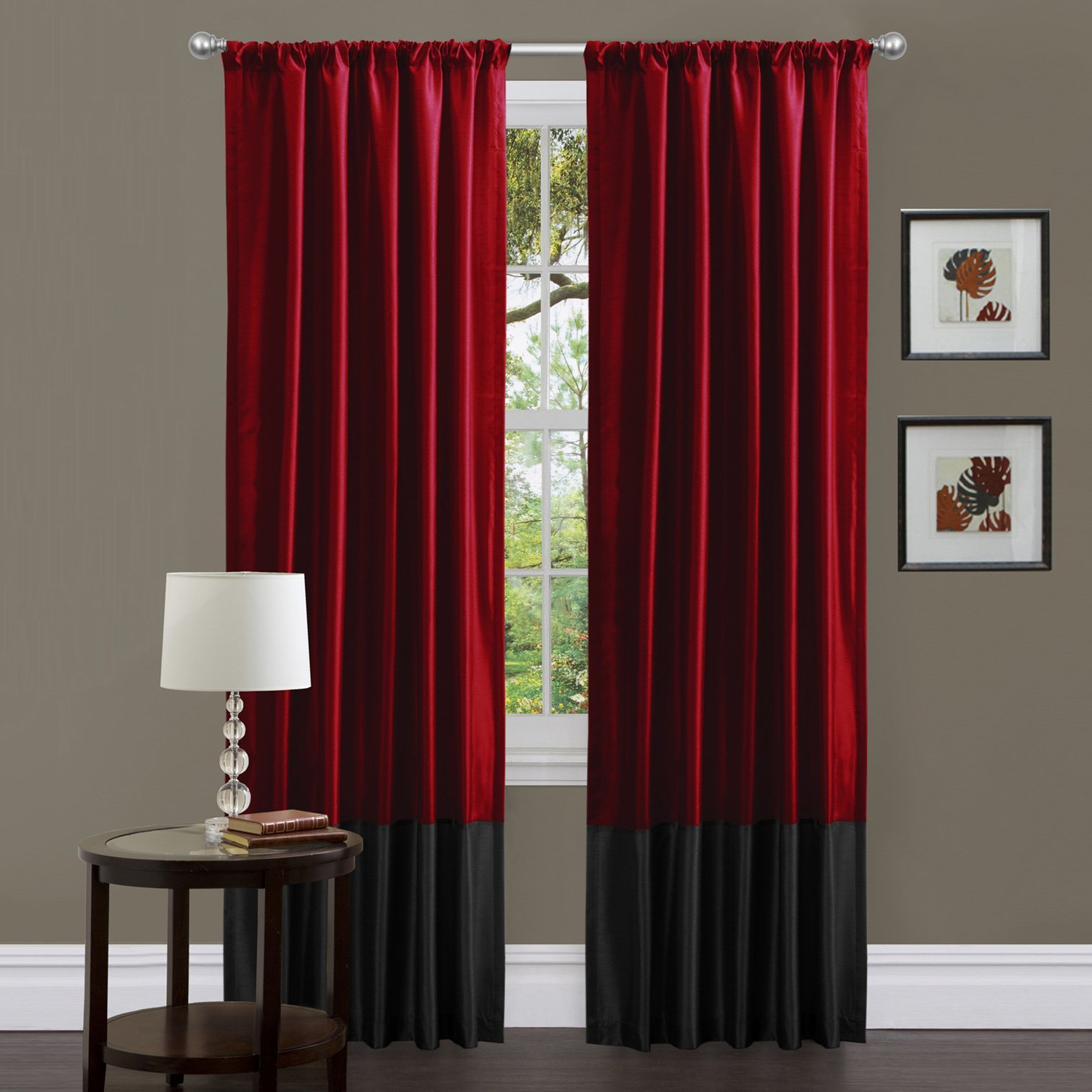 Warm Burgundy Curtains For Living Room — Office Pdx Kitchen With Best And Newest Kitchen Burgundy/white Curtain Sets (View 16 of 20)