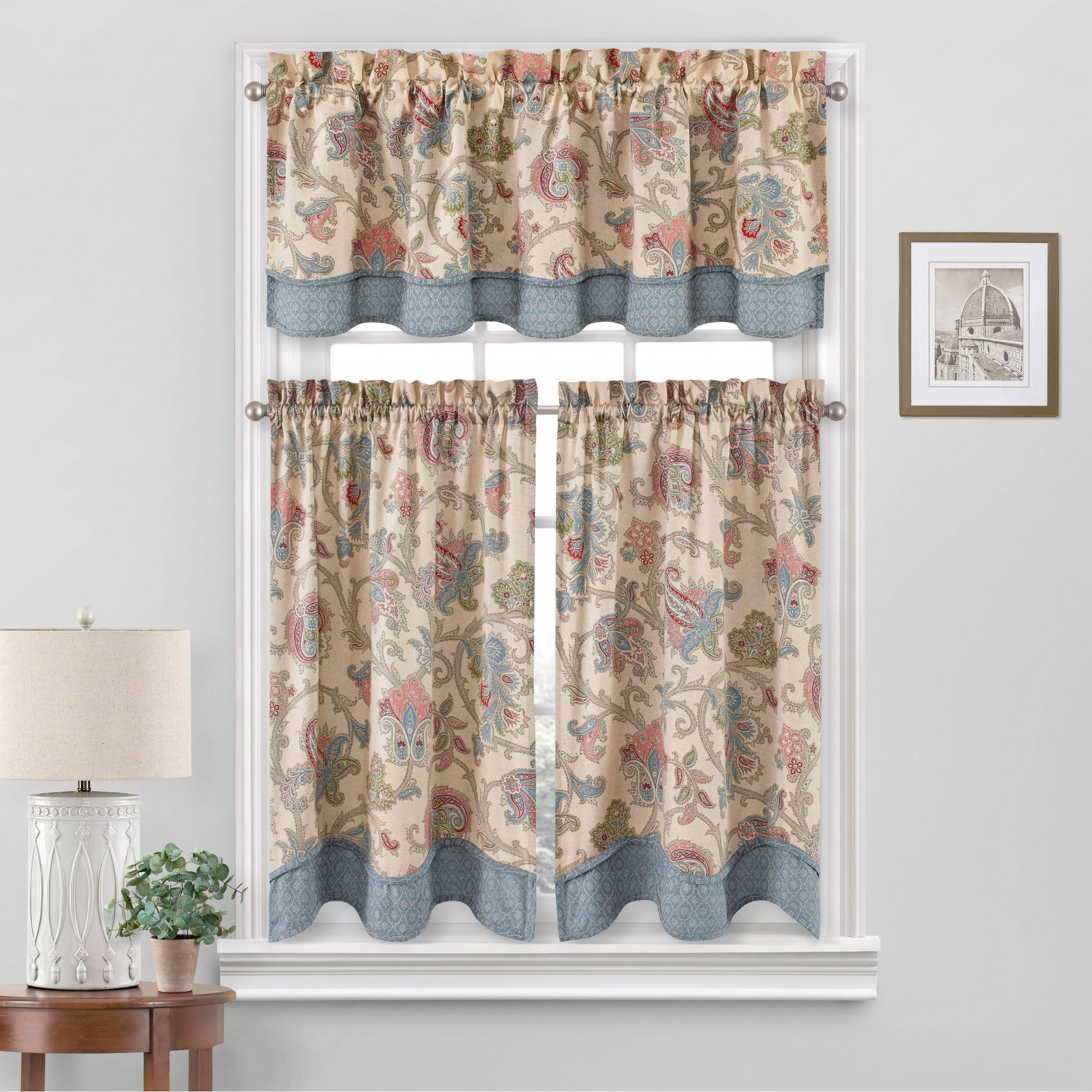 Waverly Arezzo Window Tier Pair Within Best And Newest Tranquility Curtain Tier Pairs (View 11 of 20)