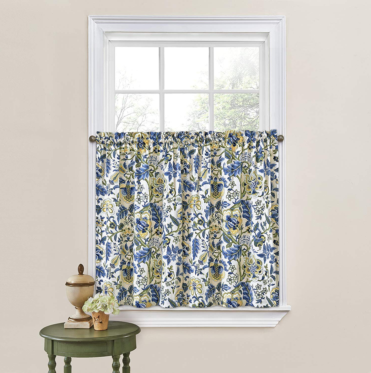 "Waverly Felicite Curtain Tiers For Preferred Waverly Kitchen Curtains For Windows – Imperial Dress 52"" X 36"" Small Window Panel Tiers Privacy Window Treatment Pair Bathroom, Living Room, (View 15 of 20)"