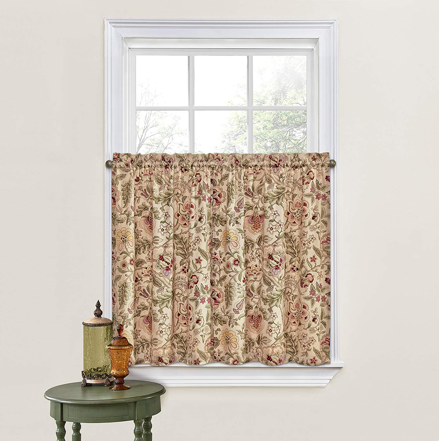 """Waverly Kitchen Curtains For Windows – Imperial Dress 52"""" X 36"""" Small Window Panel Tiers Privacy Window Treatment Pair Bathroom, Living Room, Within Preferred Imperial Flower Jacquard Tier And Valance Kitchen Curtain Sets (View 8 of 20)"""
