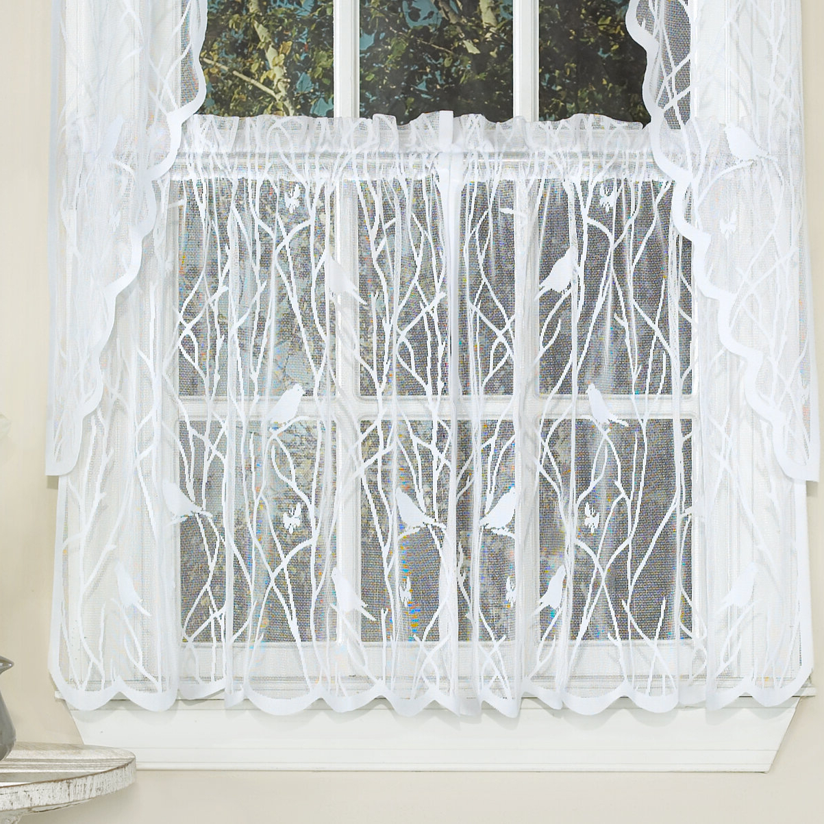 Wayfair With Trendy Marine Life Motif Knitted Lace Window Curtain Pieces (View 12 of 20)