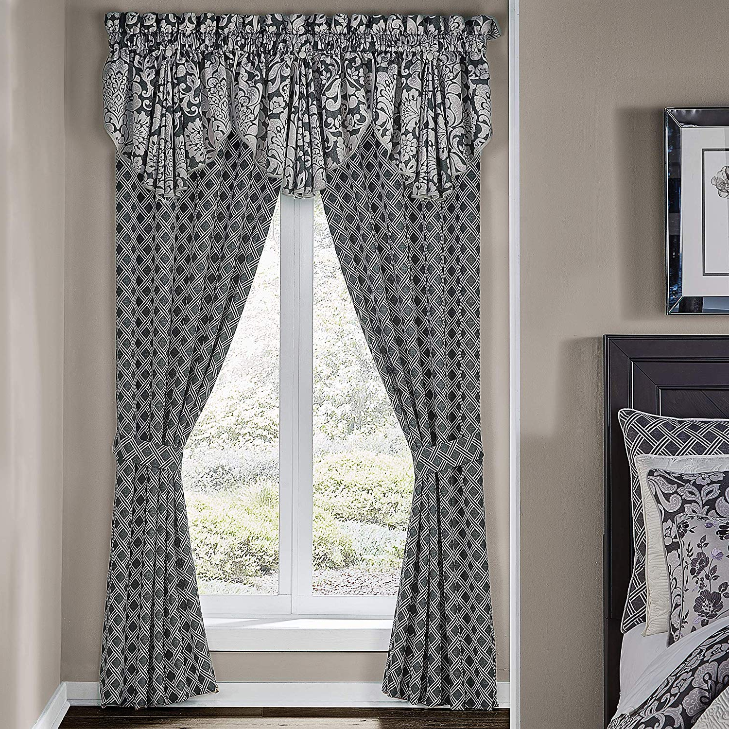 Well Known Amazon: Croscill Remi Valance, Grey: Home & Kitchen With Circle Curtain Valances (View 19 of 20)