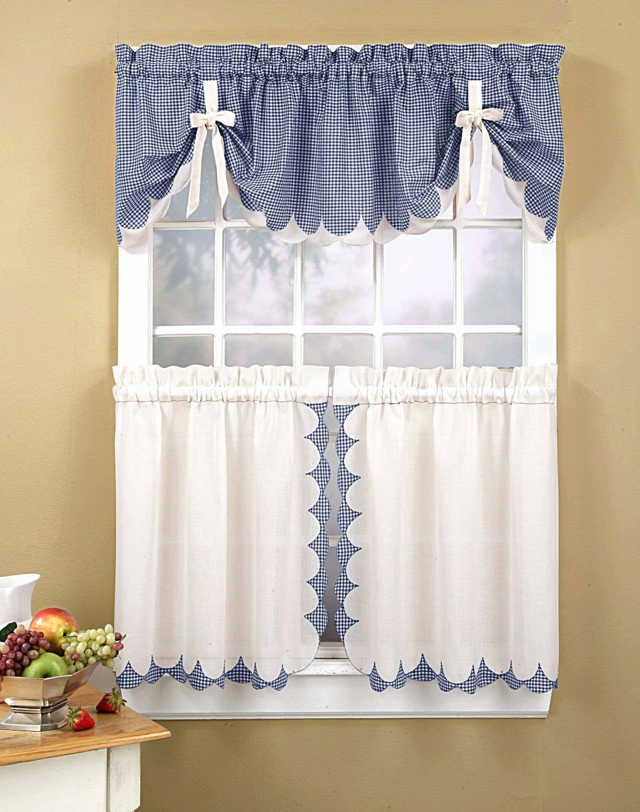Well Known Astounding Country Living Kitchen Curtains High Style For Throughout Coastal Tier And Valance Window Curtain Sets (View 19 of 20)
