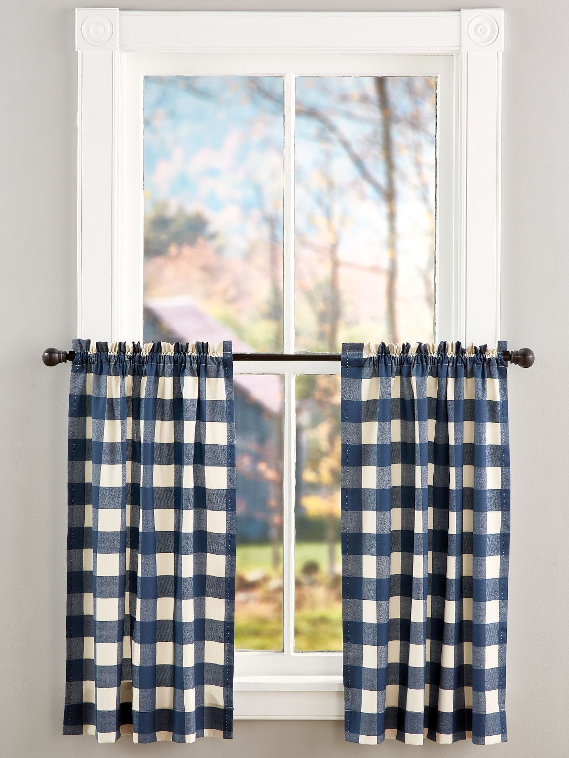 Well Known Grandin Curtain Valances In Black With Regard To Buffalo Check Rod Pocket Tiers In (View 4 of 20)
