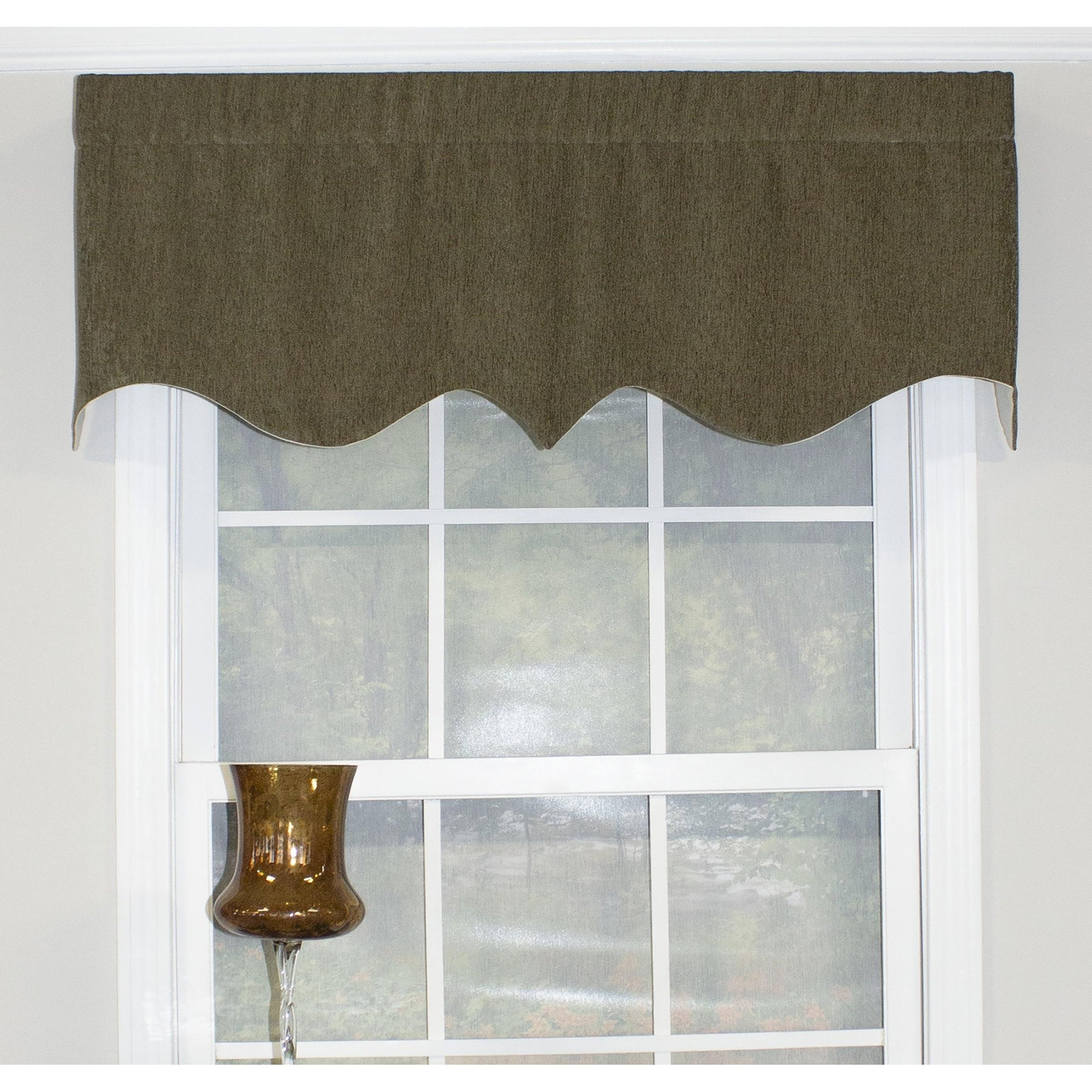 "Well Known Rlf Home Elemental Regal 50"" Window Valance Pertaining To Flinders Forge 30 Inch Tiers In Garnet (View 10 of 20)"