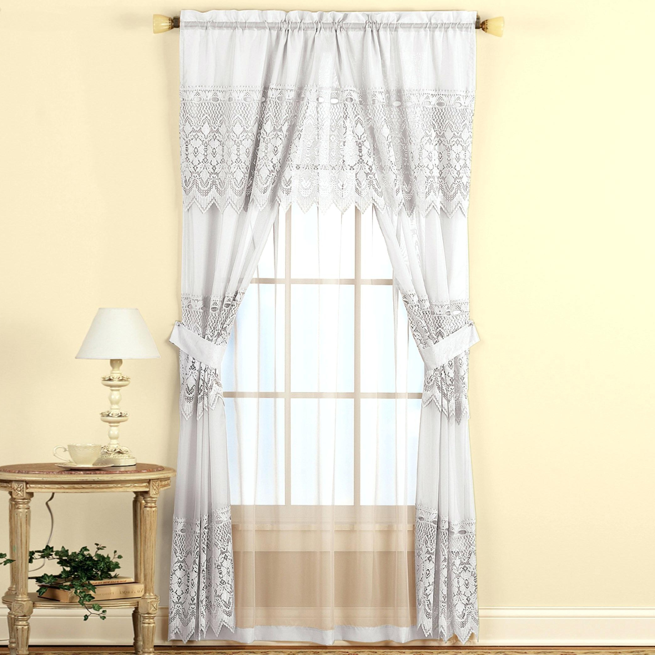 Well Known Scroll Leaf 3 Piece Curtain Tier And Valance Sets Intended For Curtain And Valance Set (View 20 of 20)