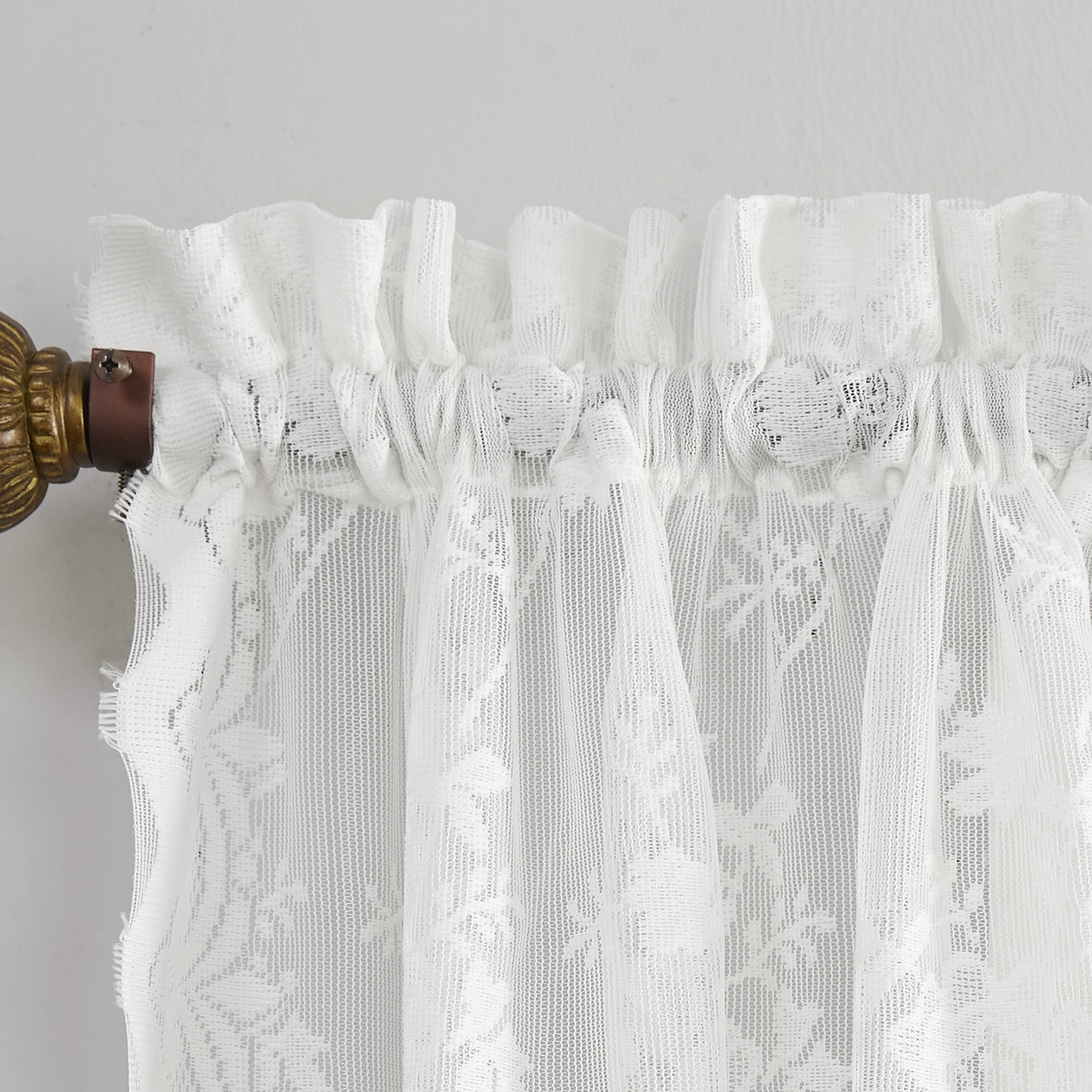 Well Known Sheer Lace Elongated Kitchen Curtain Tier Pairs Pertaining To No (View 4 of 20)