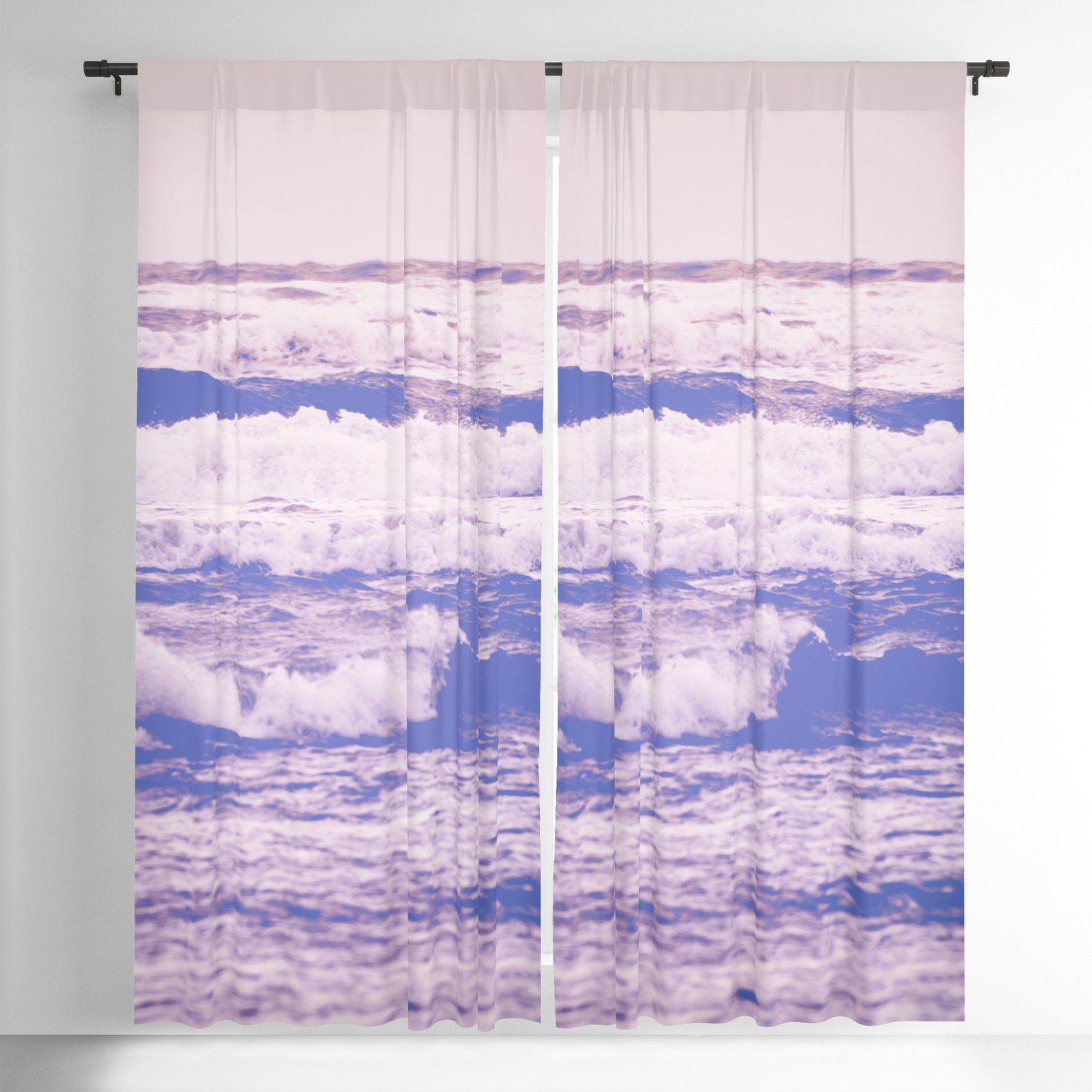 Well Known Vintage Sea Shore All Over Printed Window Curtains Within California Girl Beach Blackout Curtaincascadia (View 9 of 20)