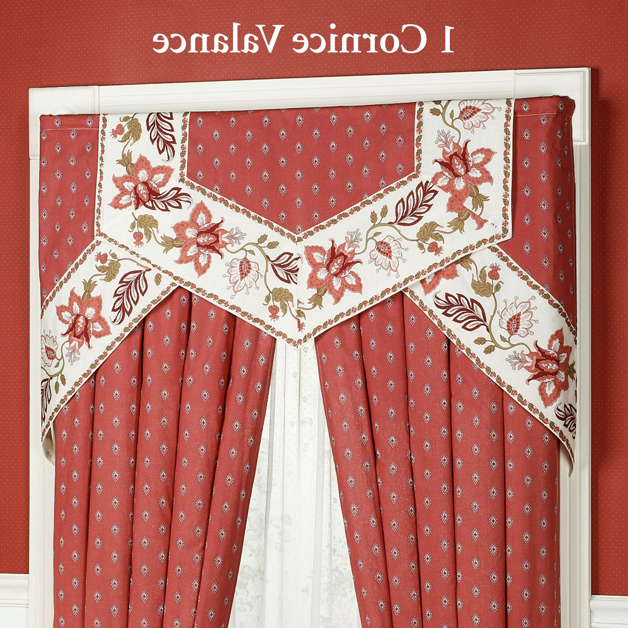 Well Liked Chateau Rouge Cornice Valance Window Treatment With Regard To Chateau Wines Cottage Kitchen Curtain Tier And Valance Sets (View 16 of 20)