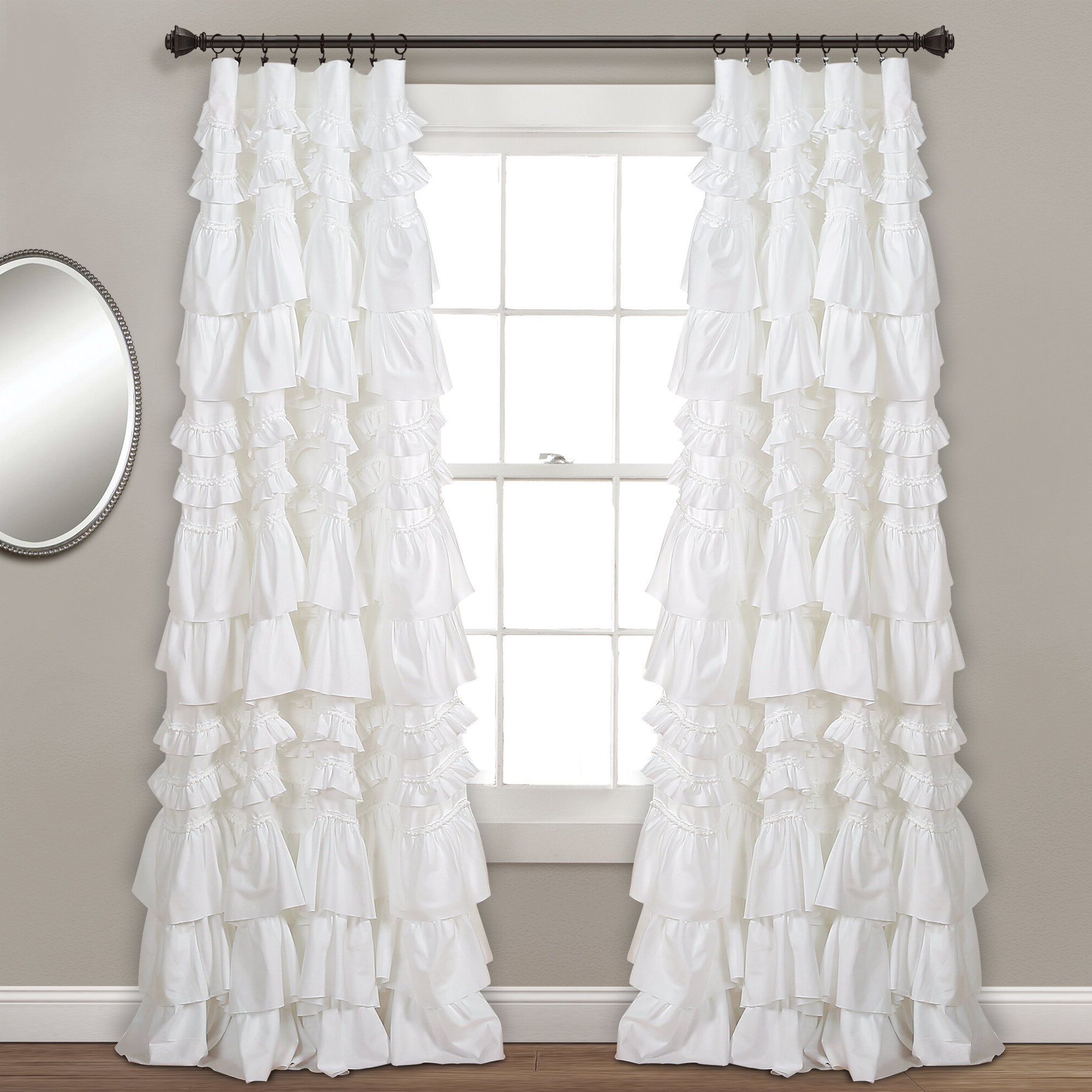 Well Liked Lark Manor Bridlington Solid Semi Sheer Rod Pocket Single Intended For Elegant Crushed Voile Ruffle Window Curtain Pieces (View 14 of 20)