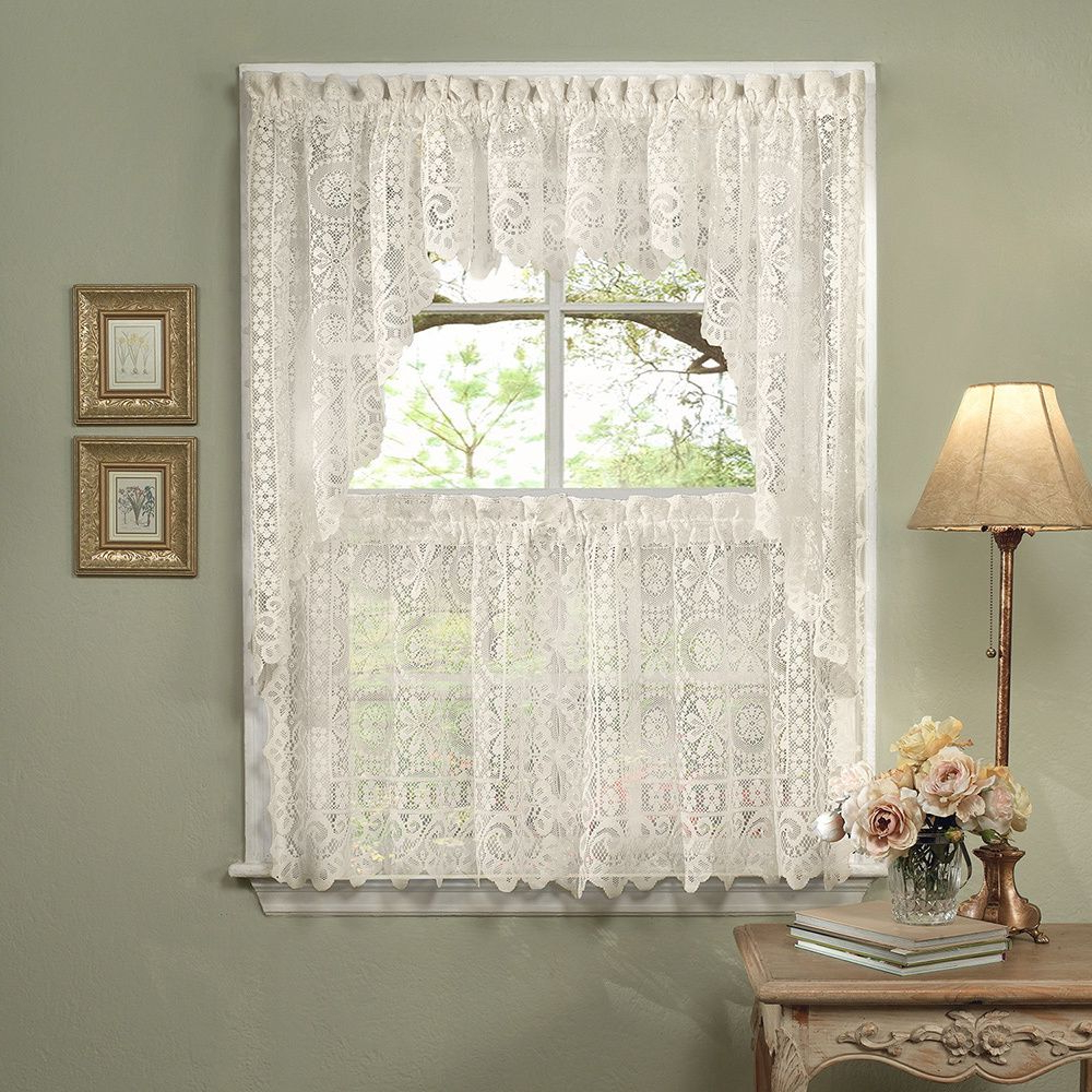 Featured Photo of Luxurious Kitchen Curtains Tiers, Shade Or Valances