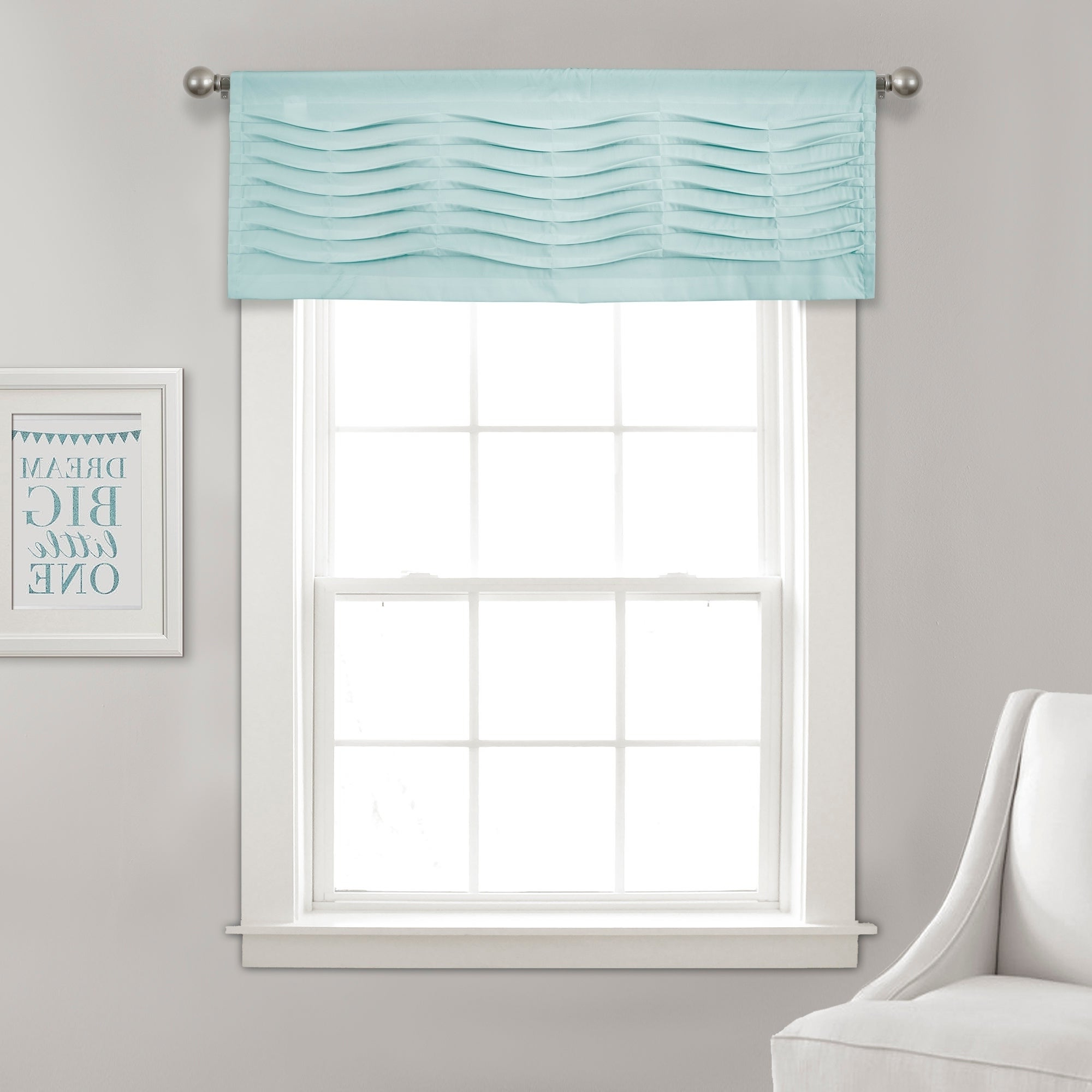 Well Liked Porch & Den Lorentz Silver 24 Inch Tier Pairs In Details About Porch & Den Kinnaman Wave Texture Window Curtain Valance (View 12 of 20)