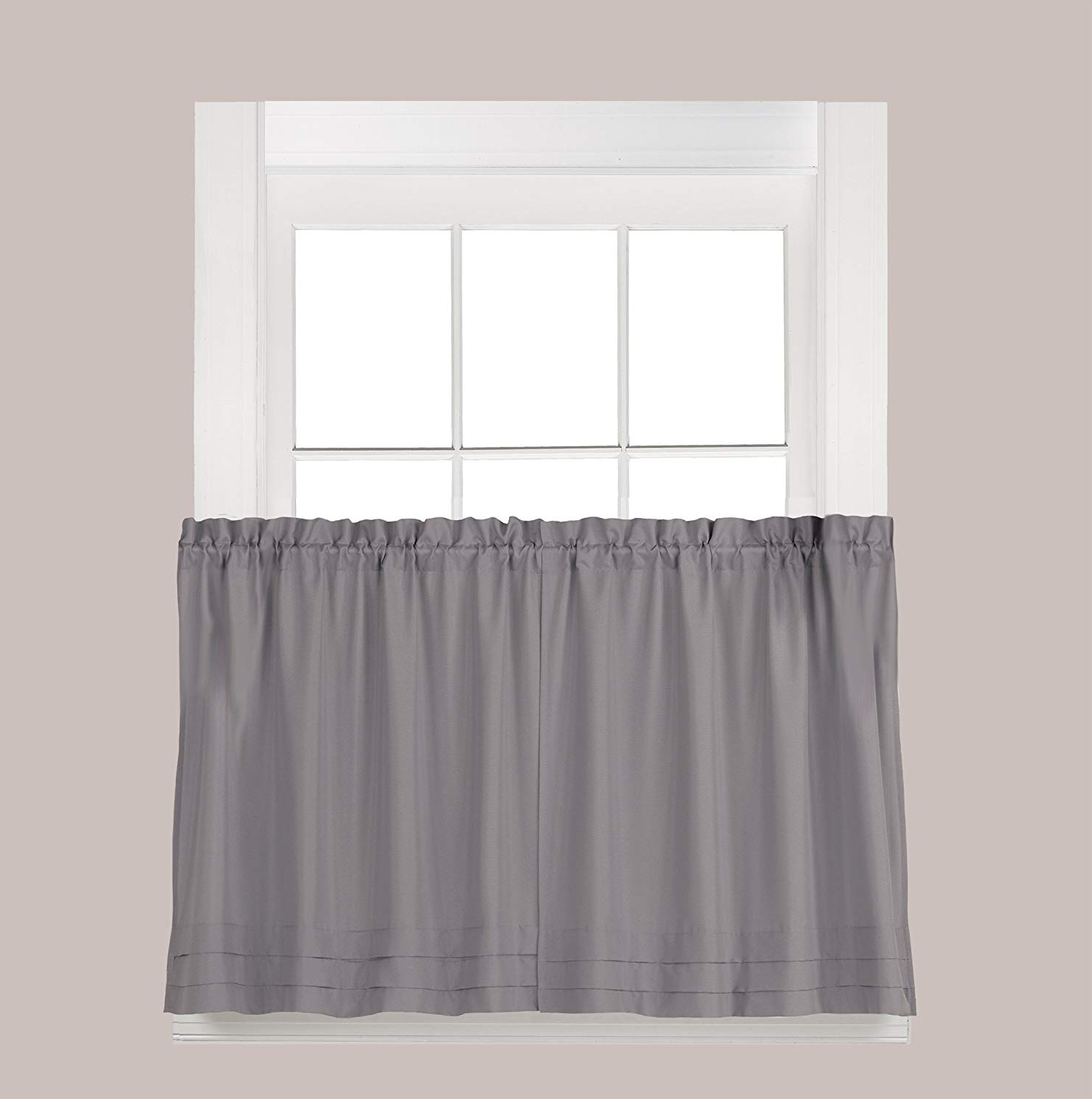 Featured Photo of Dove Gray Curtain Tier Pairs
