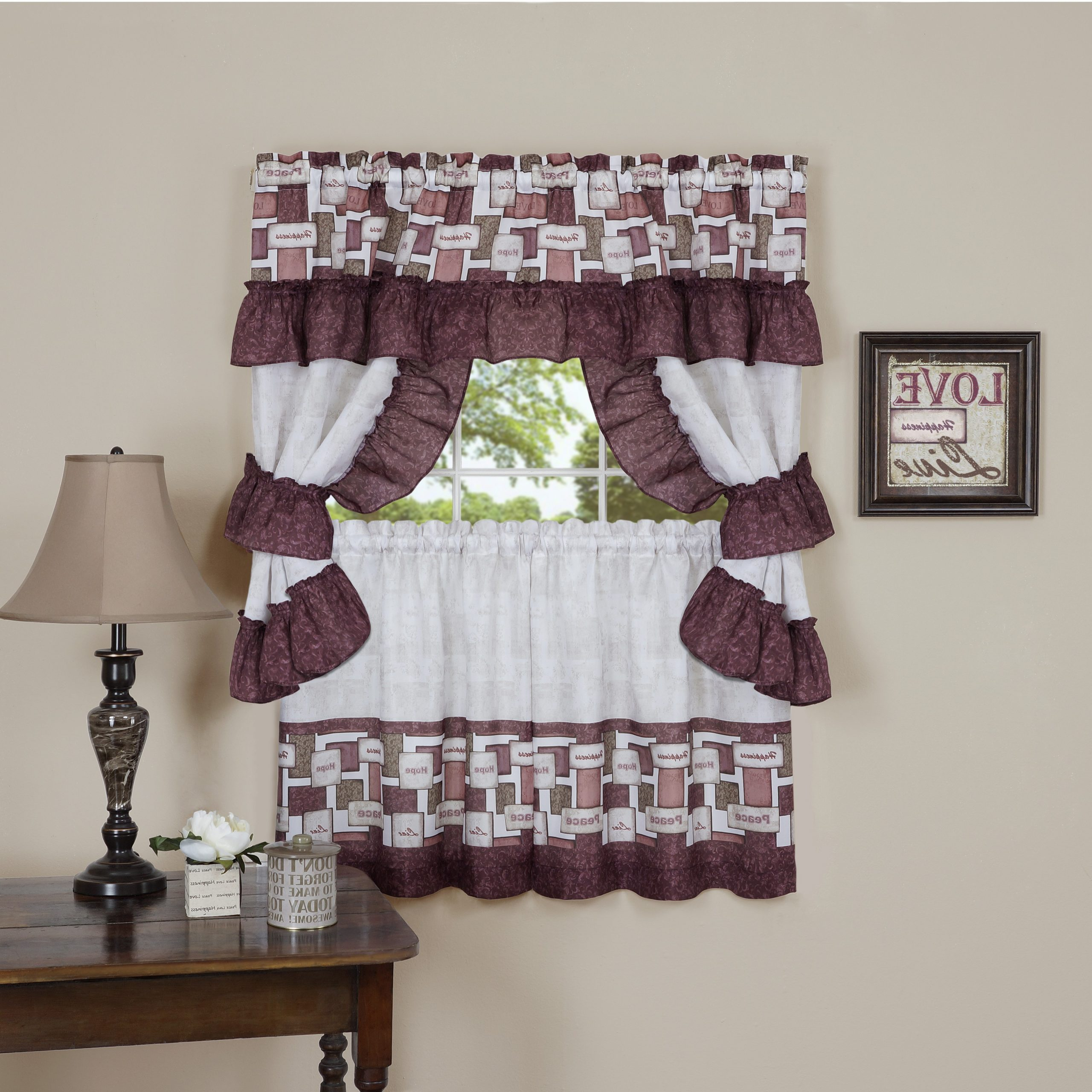 Well Liked Top Of The Morning Printed Tailored Cottage Curtain Tier Sets Within Inspiration Printed Cottage Set – Printed Cottage Sets (View 12 of 20)