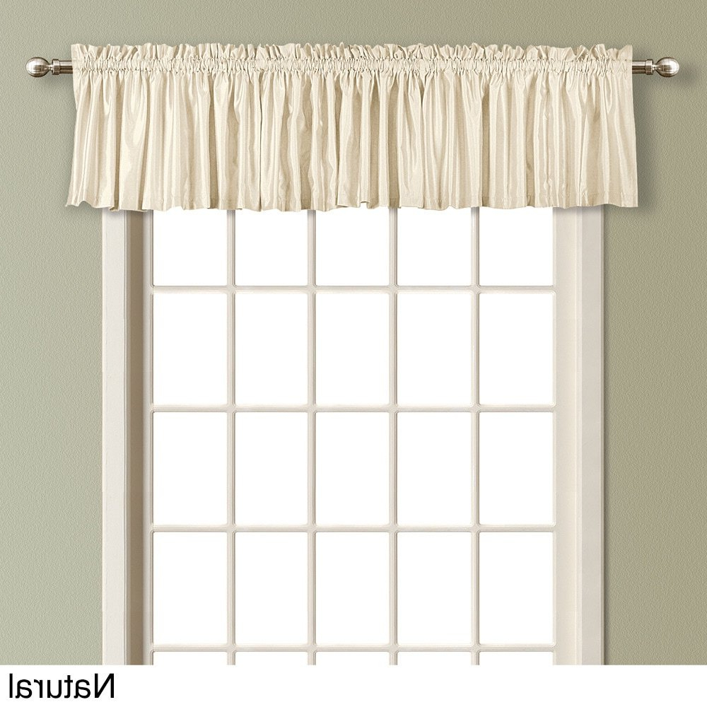 Well Liked United Curtain Lincoln Straight Valance, 5416 Inch, Natural In Luxury Light Filtering Straight Curtain Valances (View 11 of 20)