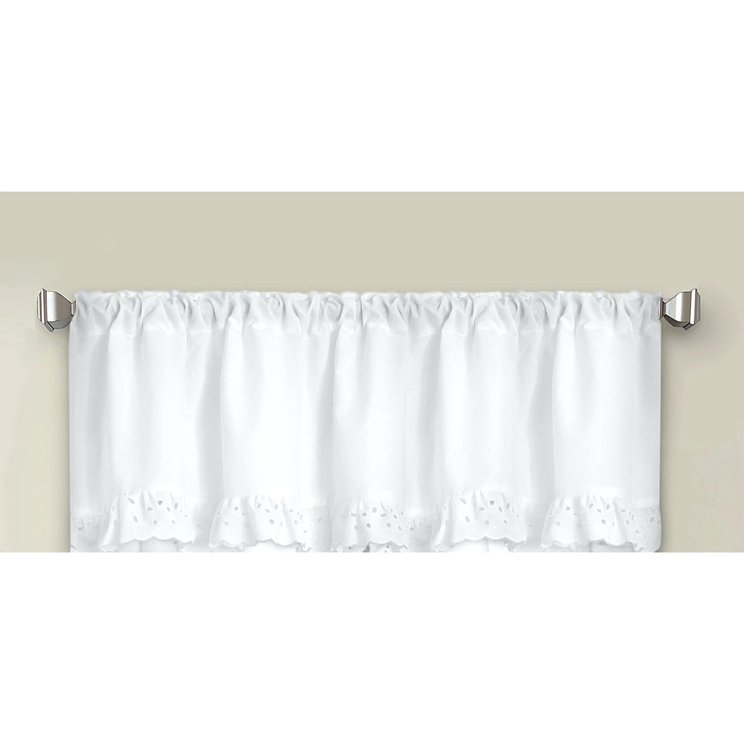 White Ruffled Sheer Petticoat Tier Pairs With Preferred White Ruffled Valance Cape Cod Ruffle Kitchen Curtains Swags (View 20 of 20)
