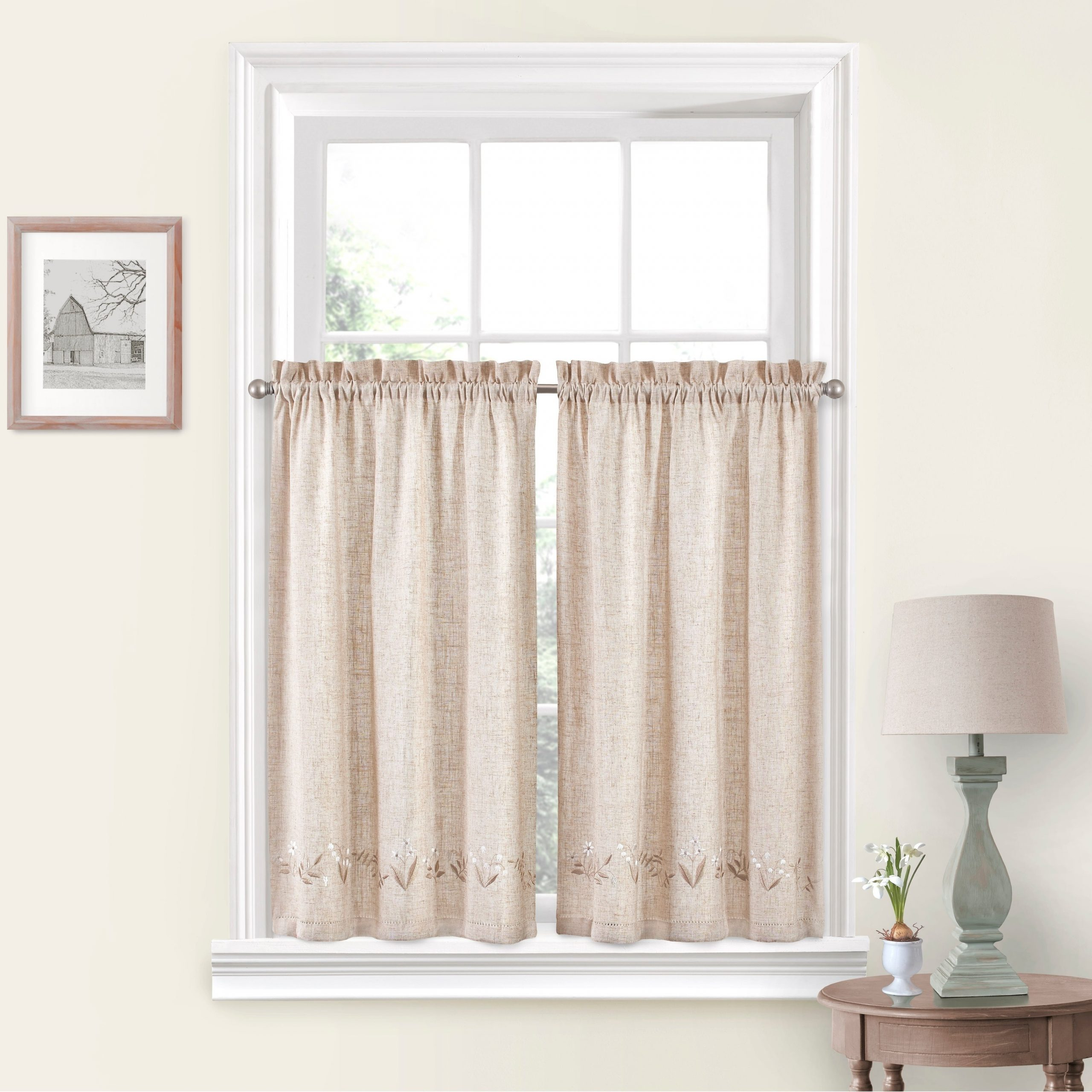 White Tone On Tone Raised Microcheck Semisheer Window Curtain Pieces Intended For 2020 Vue Window Solutions Lily Of The Valley Pair (View 11 of 20)