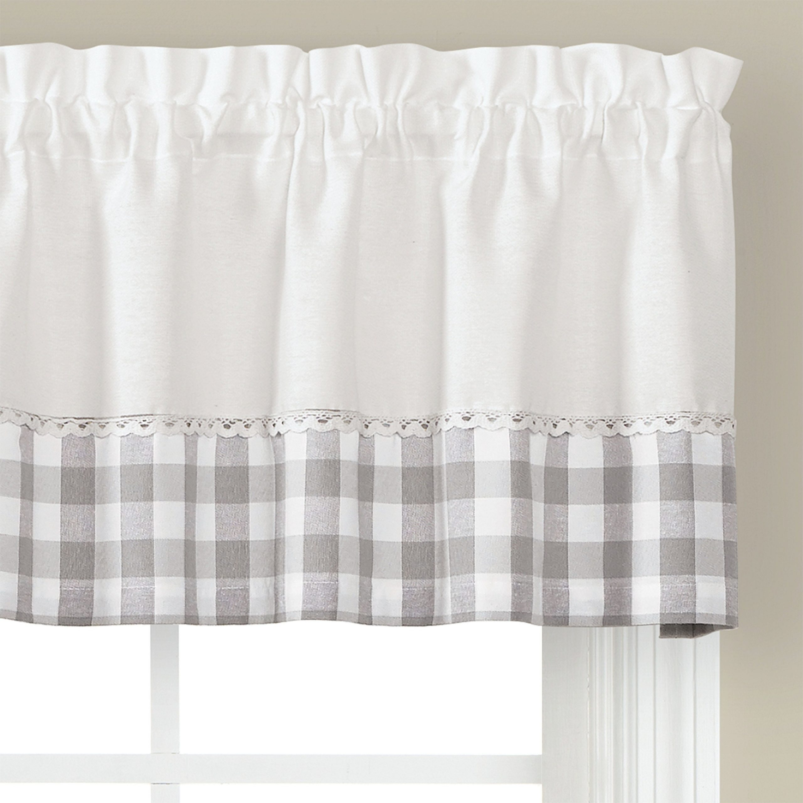 Widely Used Cumberland Tier Pairs In Dove Gray Intended For Skl Home Cumberland 13 Inch Valance In Dove Gray (View 4 of 20)