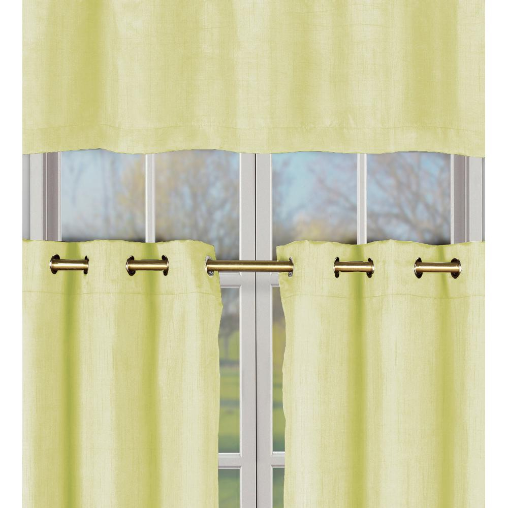 Widely Used Faux Silk 3 Piece Kitchen Curtain Sets With Regard To Duck River Agnes Yellow Faux Silk Kitchen Curtain Set – 60 In. W X 16 In (View 14 of 20)