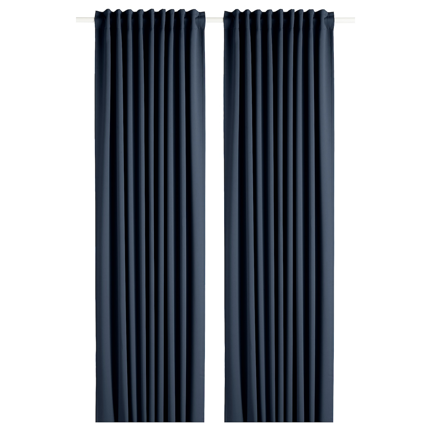 Widely Used Glasgow Curtain Tier Sets Pertaining To Block Out Curtains, 1 Pair Majgull Dark Blue (View 15 of 20)