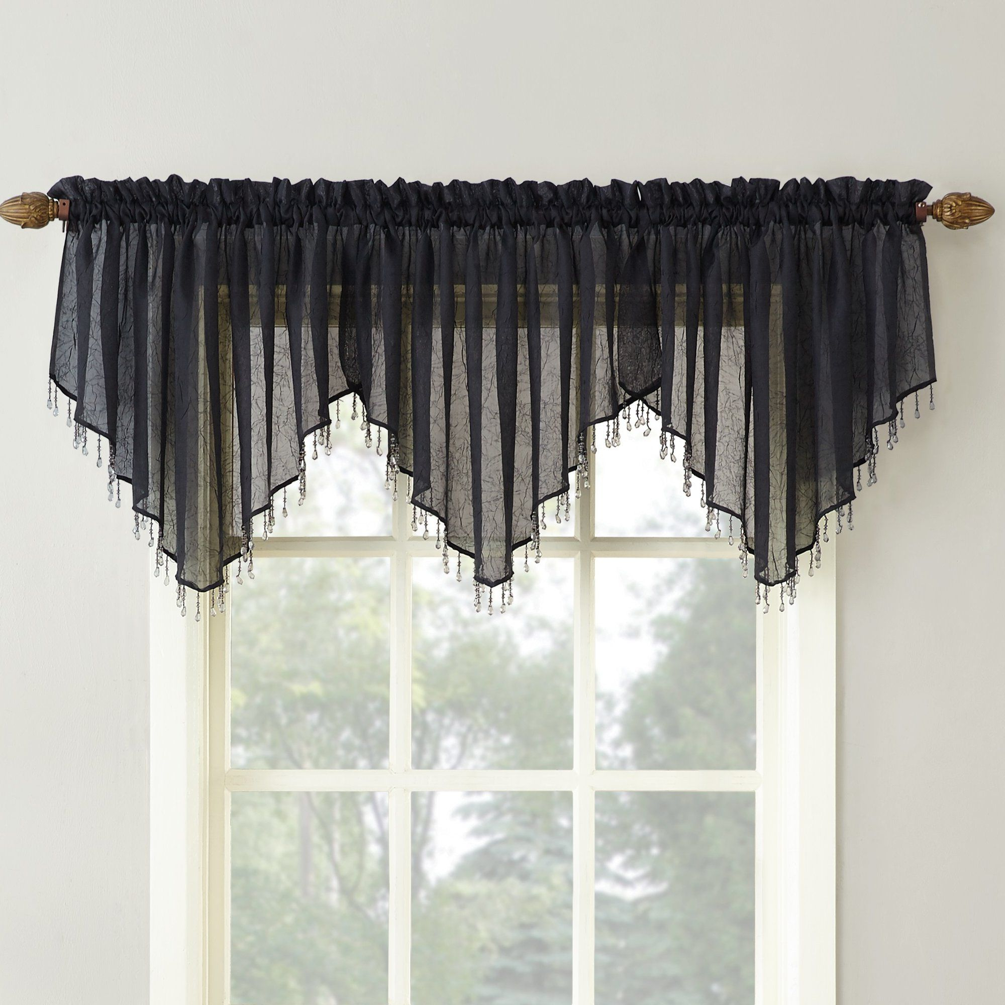 "Widely Used Sheffield Sheer Voile 51"" Curtain Valance (View 20 of 20)"
