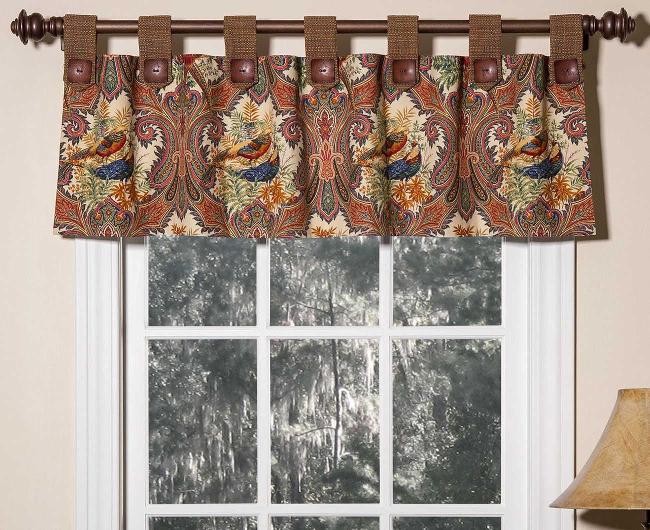 Widely Used Tailored Toppers With Valances With Tab Top Valance – Wilderness Royalthomasville (View 14 of 20)