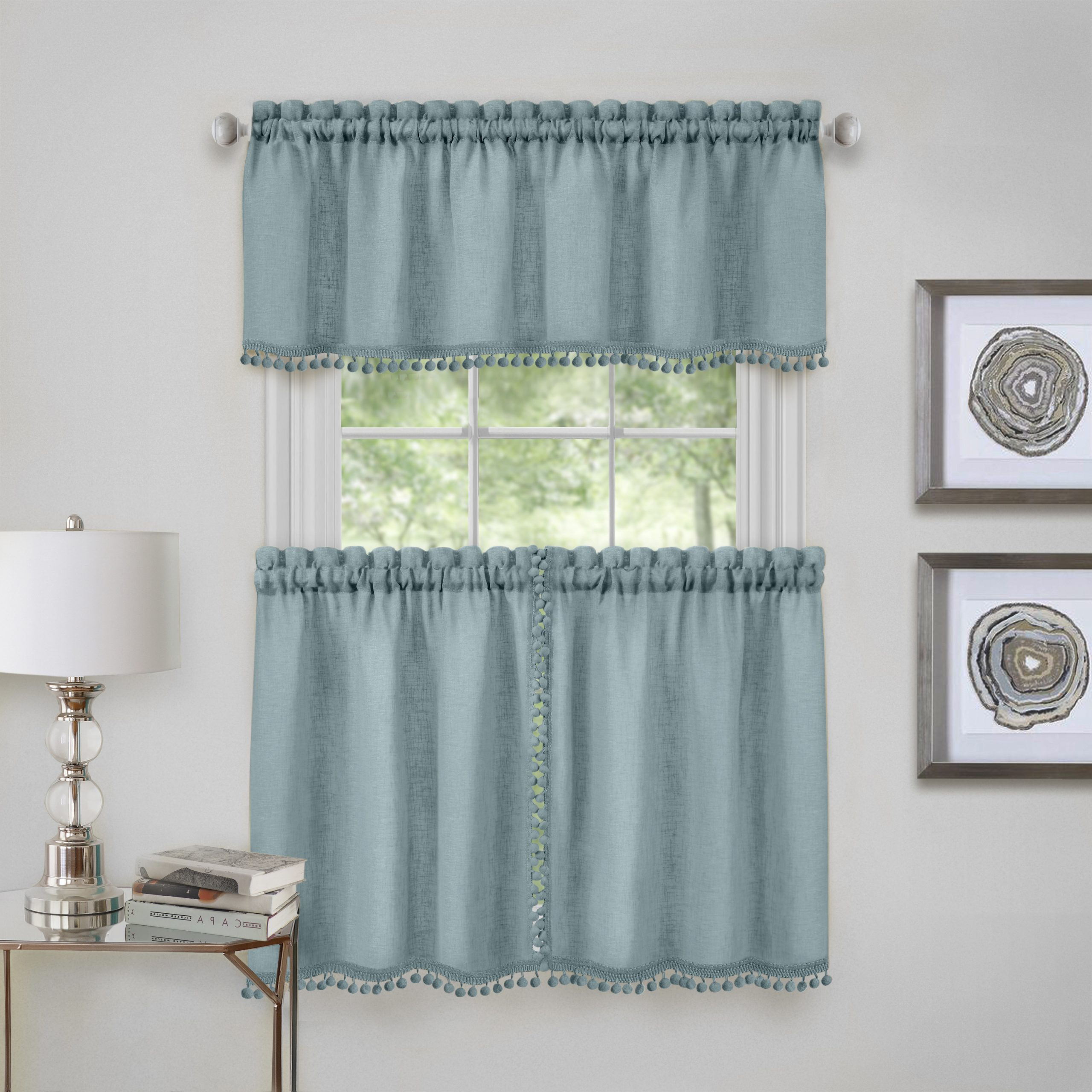 Window Curtain Tier And Valance Sets In Most Up To Date Wallace Window Kitchen Curtain Tier Pair And Valance Set (View 11 of 20)