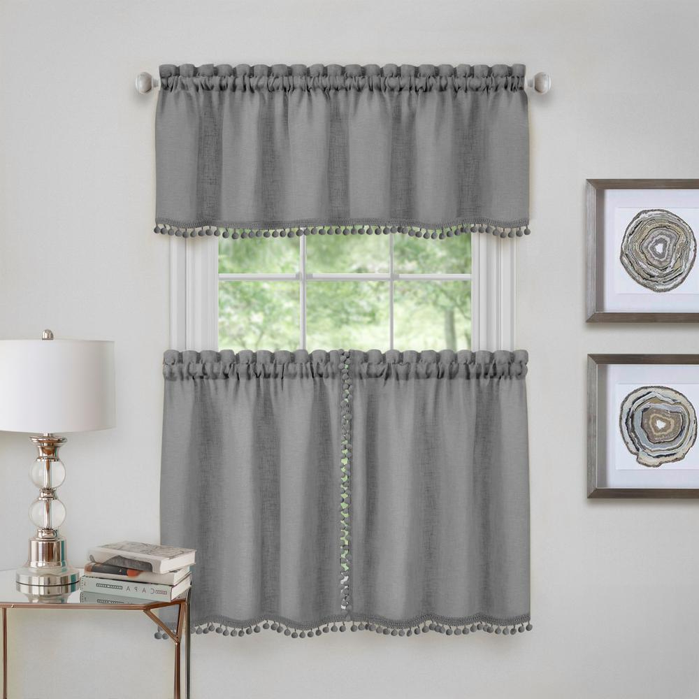 Yellow Achim Home Furnishings Lemon Drop Tier And Valance Throughout Widely Used Lemon Drop Tier And Valance Window Curtain Sets (View 4 of 20)