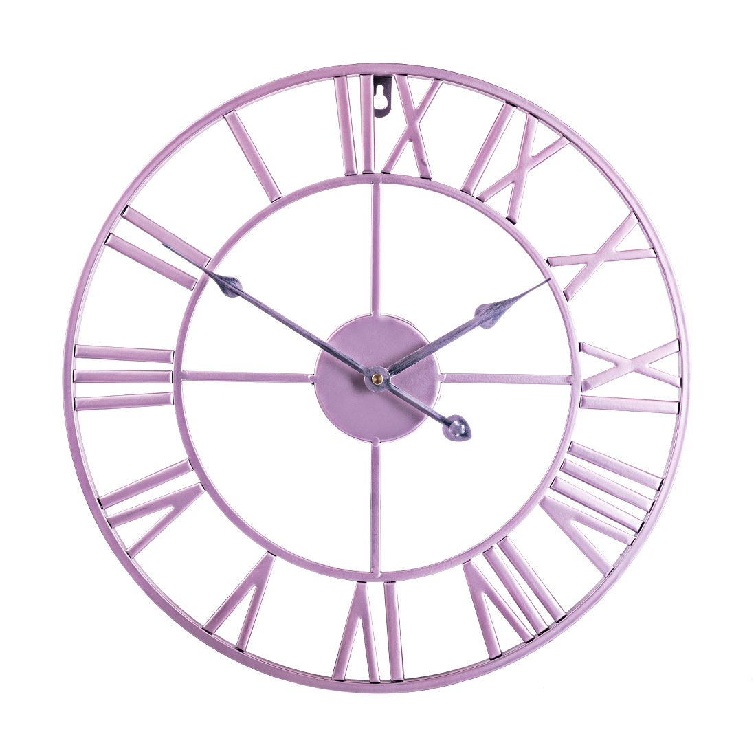 New 40cm Nordic Retro Round Iron Art Hanging Clock Three With Regard To Well Liked Nordic Three Dimensional Iron Wall Art (View 13 of 20)