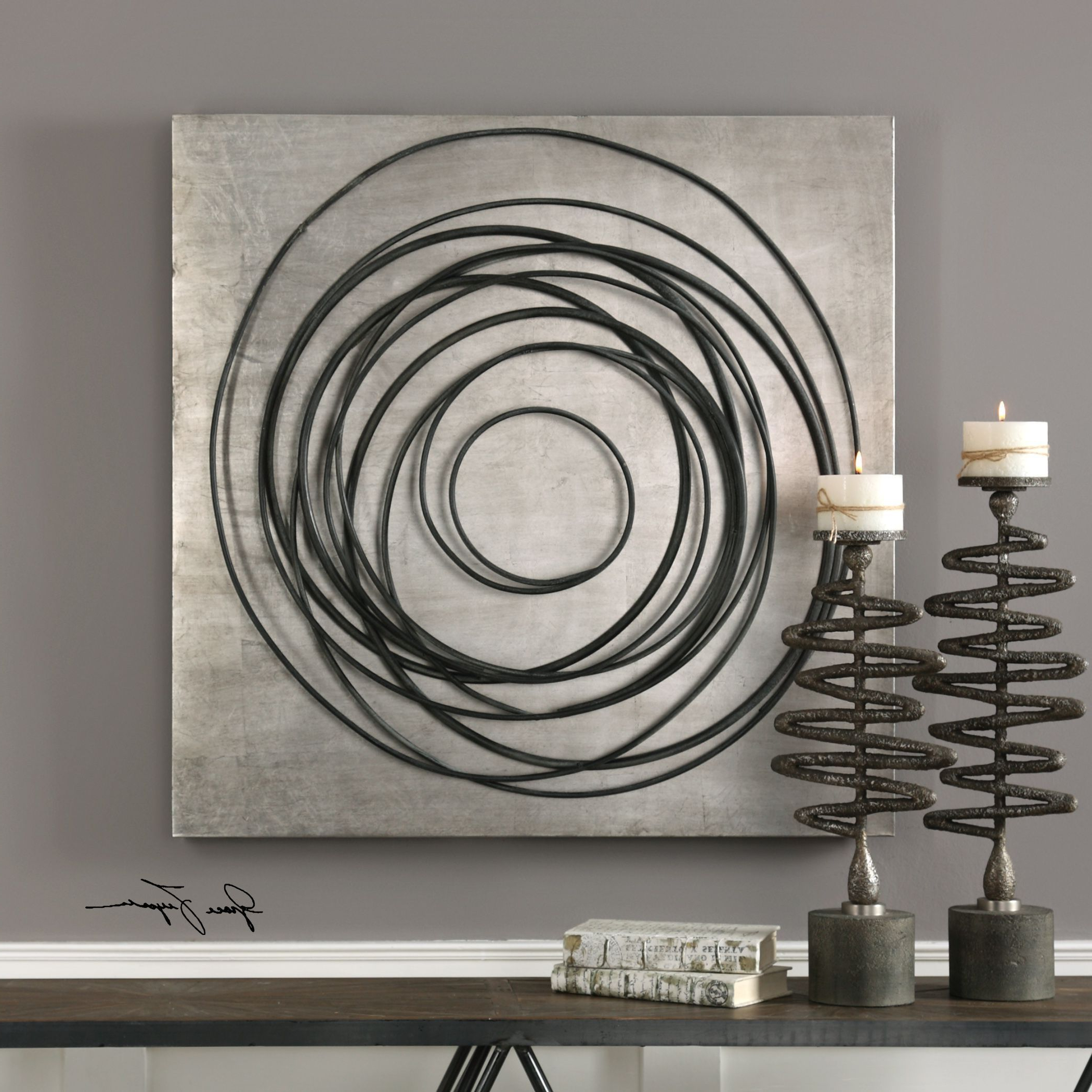 Nordic Three Dimensional Iron Wall Art Within 2018 Whirlwind Iron Coils Metal Wall Art (View 9 of 20)