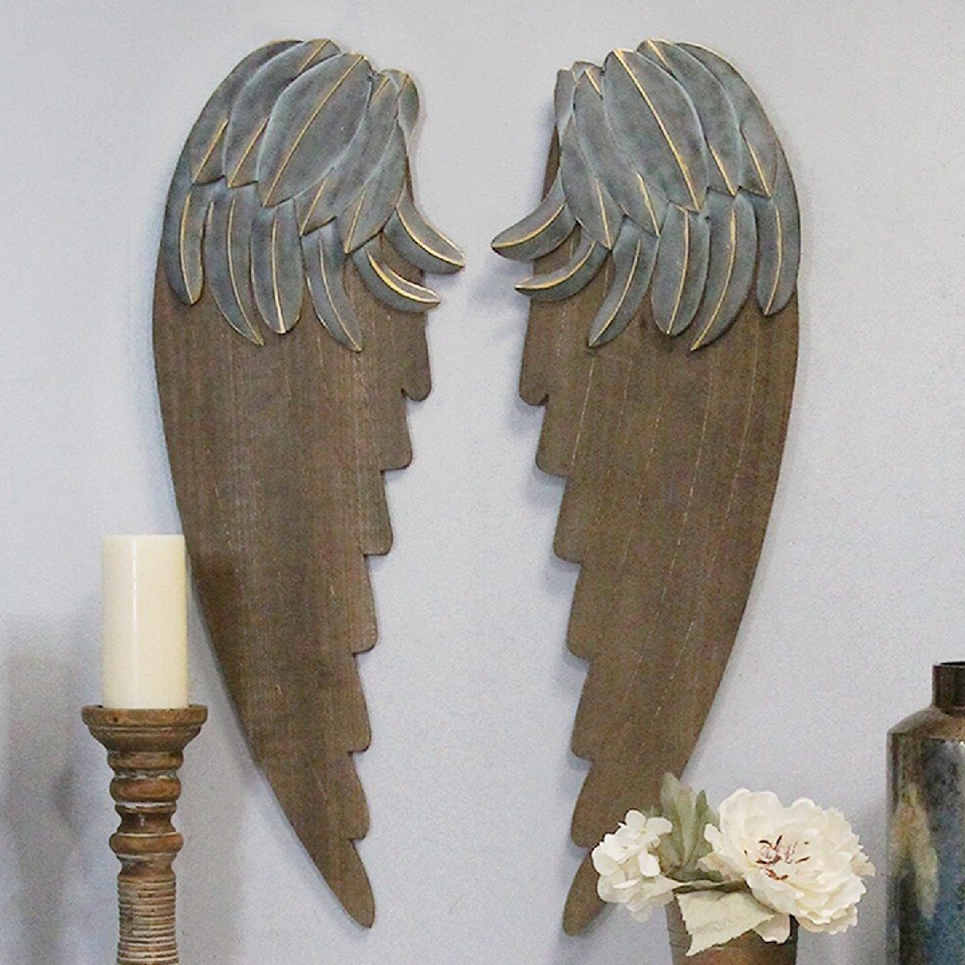 2 Piece Angel Wings Wall Décor Set Regarding Well Known Wing Wall Décor By One Allium Way (View 5 of 20)