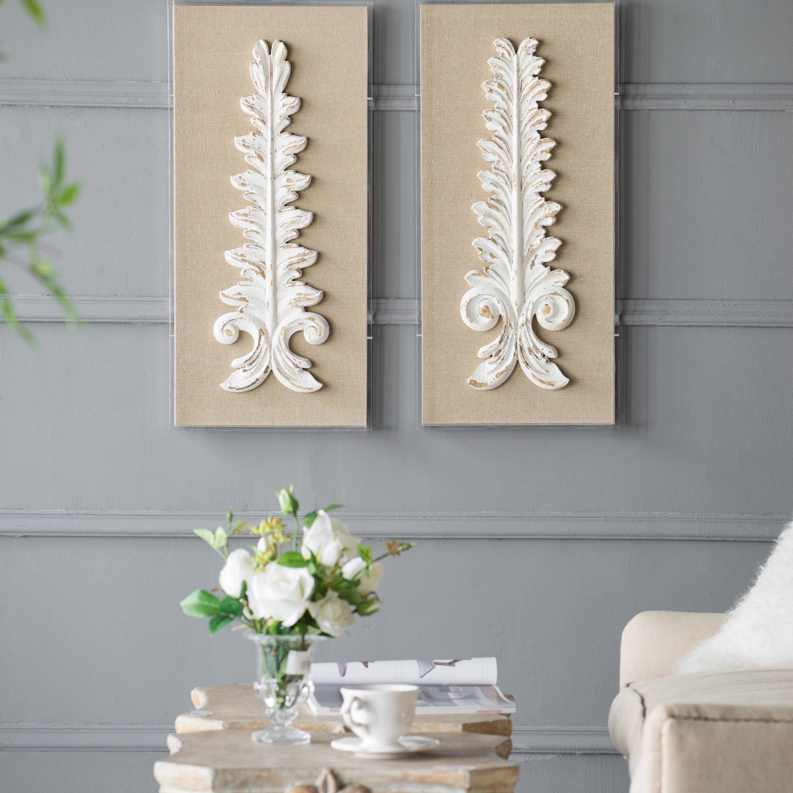 2 Piece Wall Décor Set Within Most Recently Released Wing Wall Décor By One Allium Way (View 12 of 20)