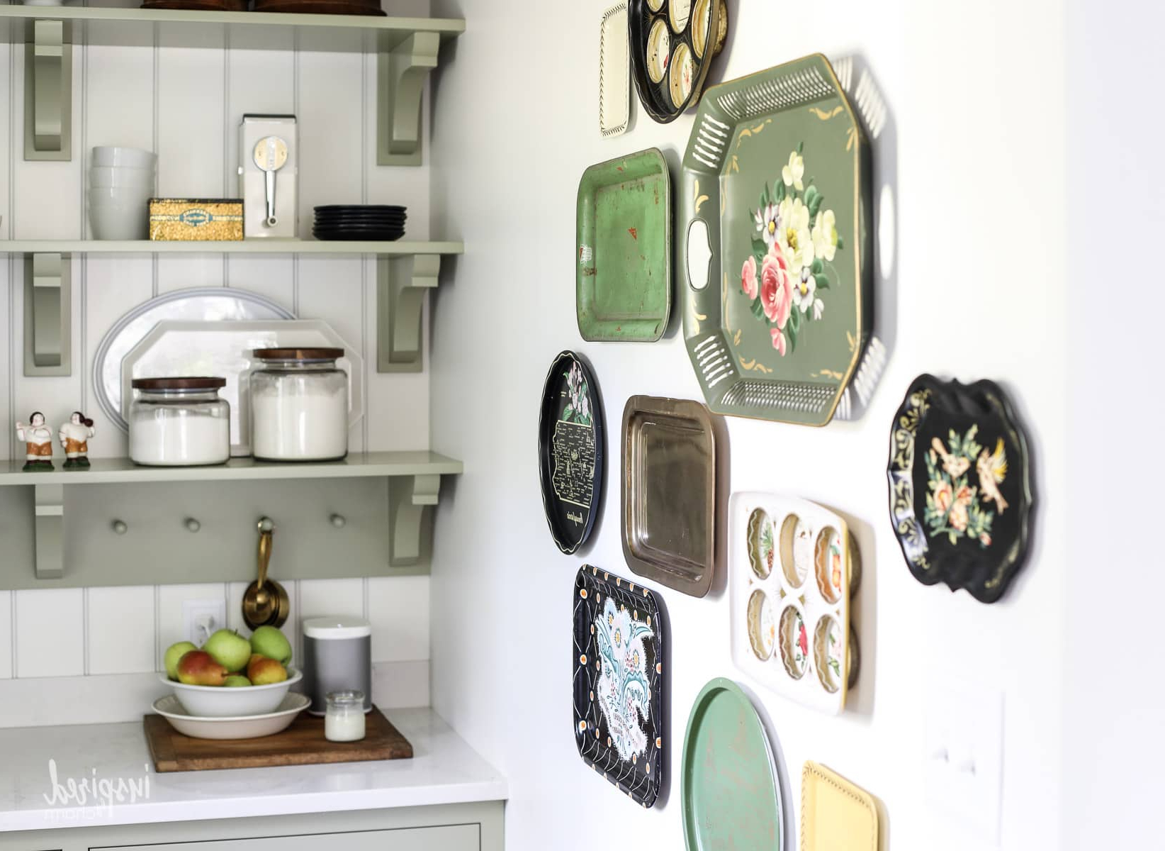 2019 Antique Iron Alloy Wall Décor Inside Vintage Metal Tray Gallery Wall – Wall Decor / Decorating Ideas (View 20 of 20)