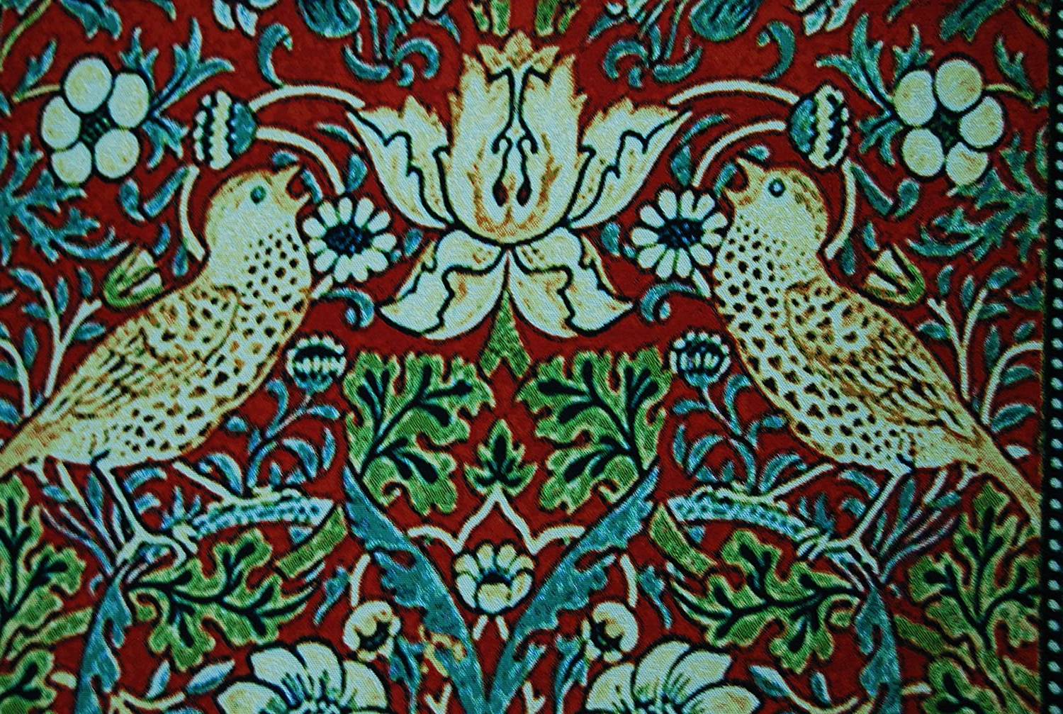 2019 Birds Face To Face I European Tapestries In Amazon: Beautiful Strawberry Thief Bird Flower (View 11 of 20)