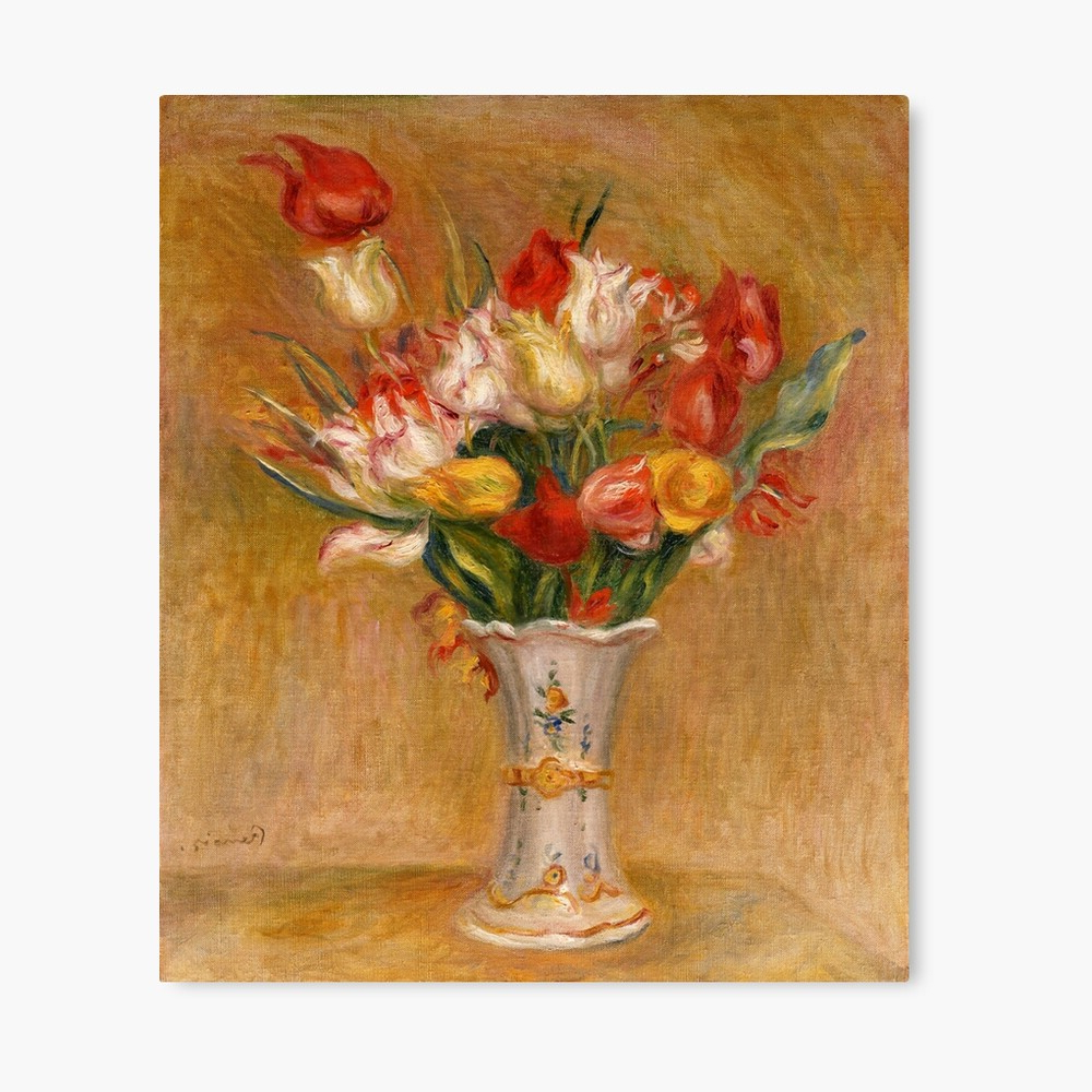 """2019 Blended Fabric Spring Bouquet By Renoir Tapestries Intended For Pierre Auguste Renoir (1841 1919) """"tulips"""""""" Metal Print (View 10 of 20)"""